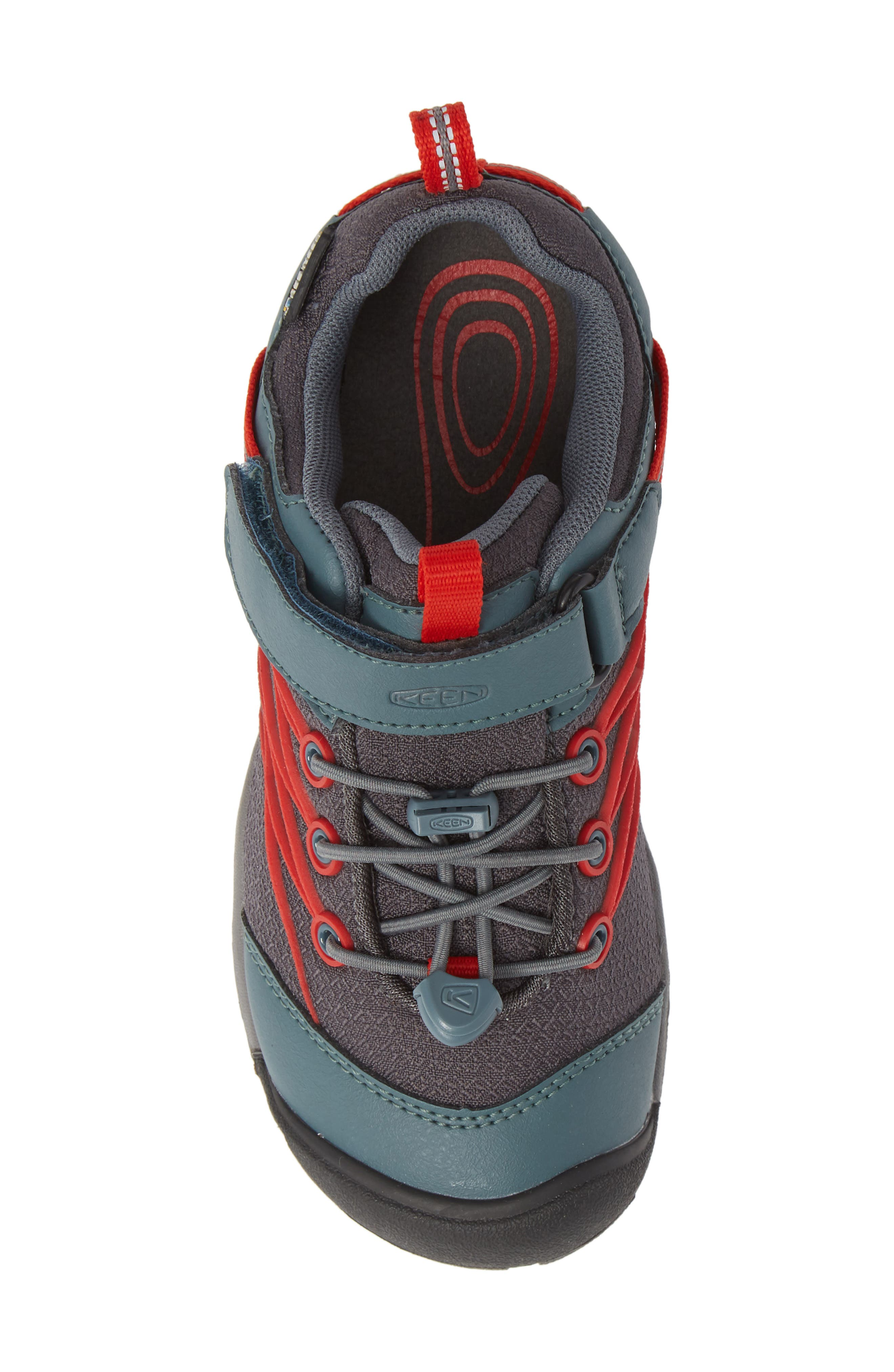 'Chandler CNX' Water Repellent Sneaker,                             Alternate thumbnail 5, color,                             STORMY WEATHER/ FIRE RED