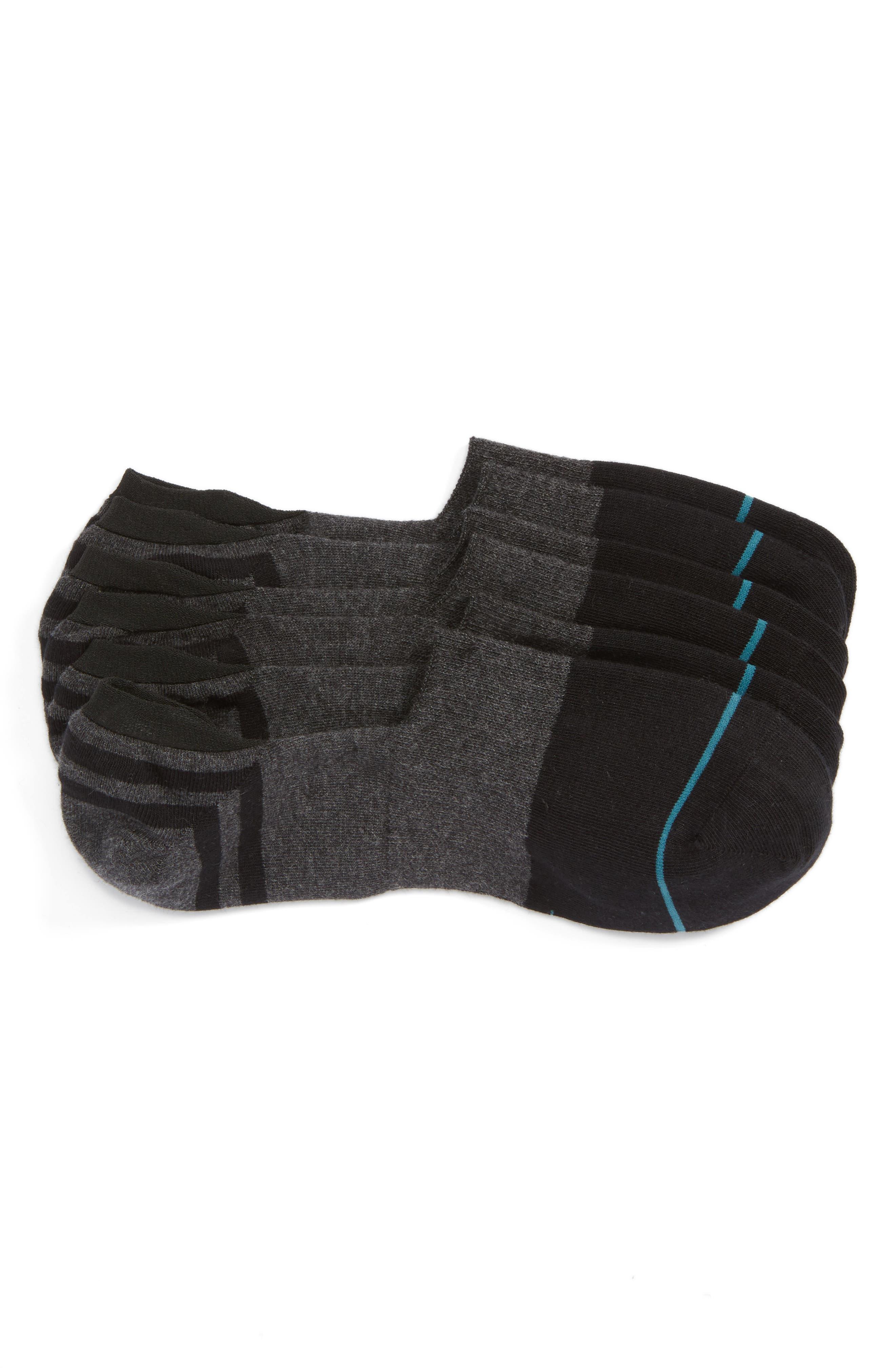 Gamut 3-Pack No-Show Liner Socks,                         Main,                         color, BLACK