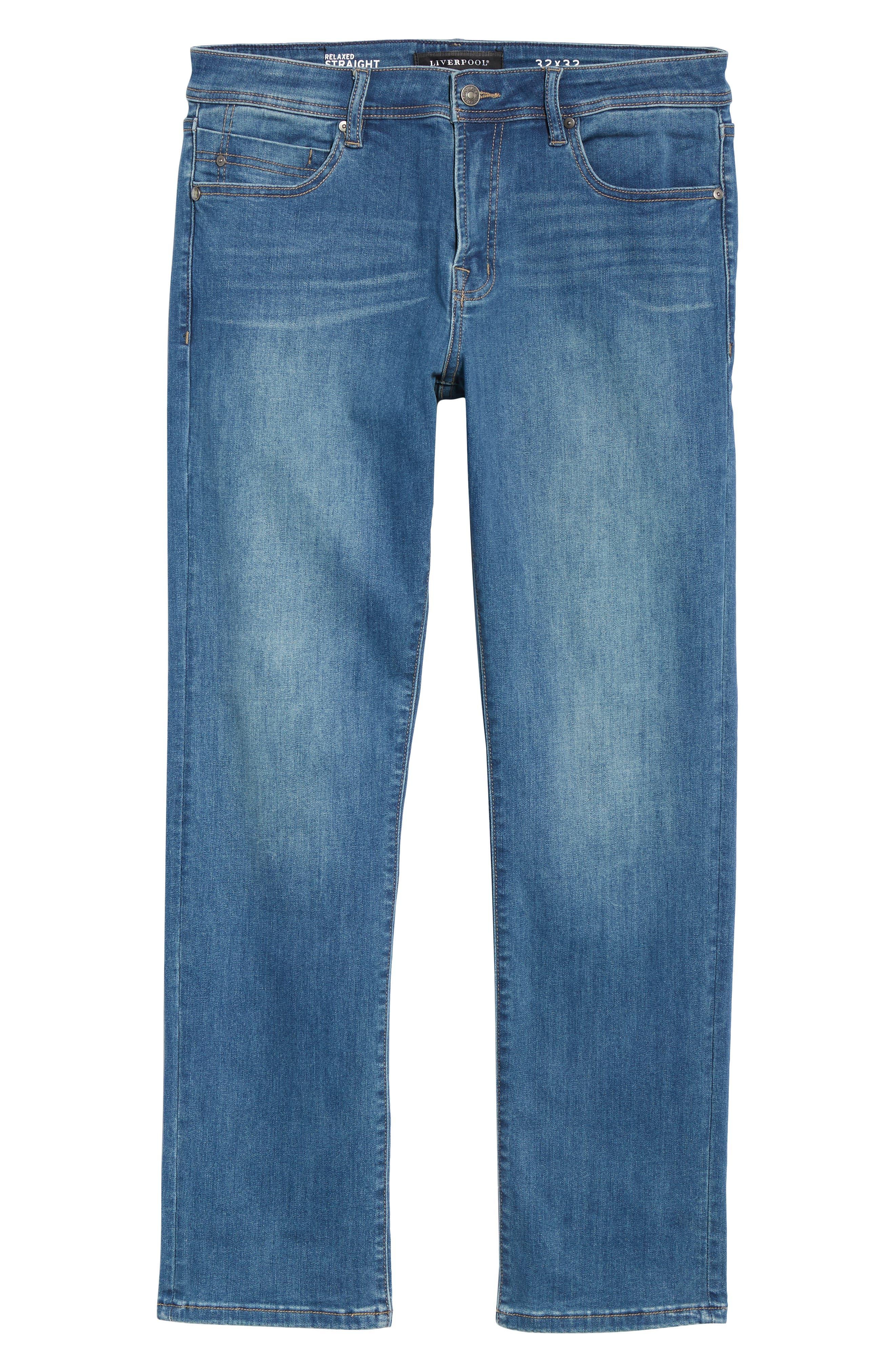 Regent Relaxed Straight Leg Jeans,                             Alternate thumbnail 6, color,                             LORAIN