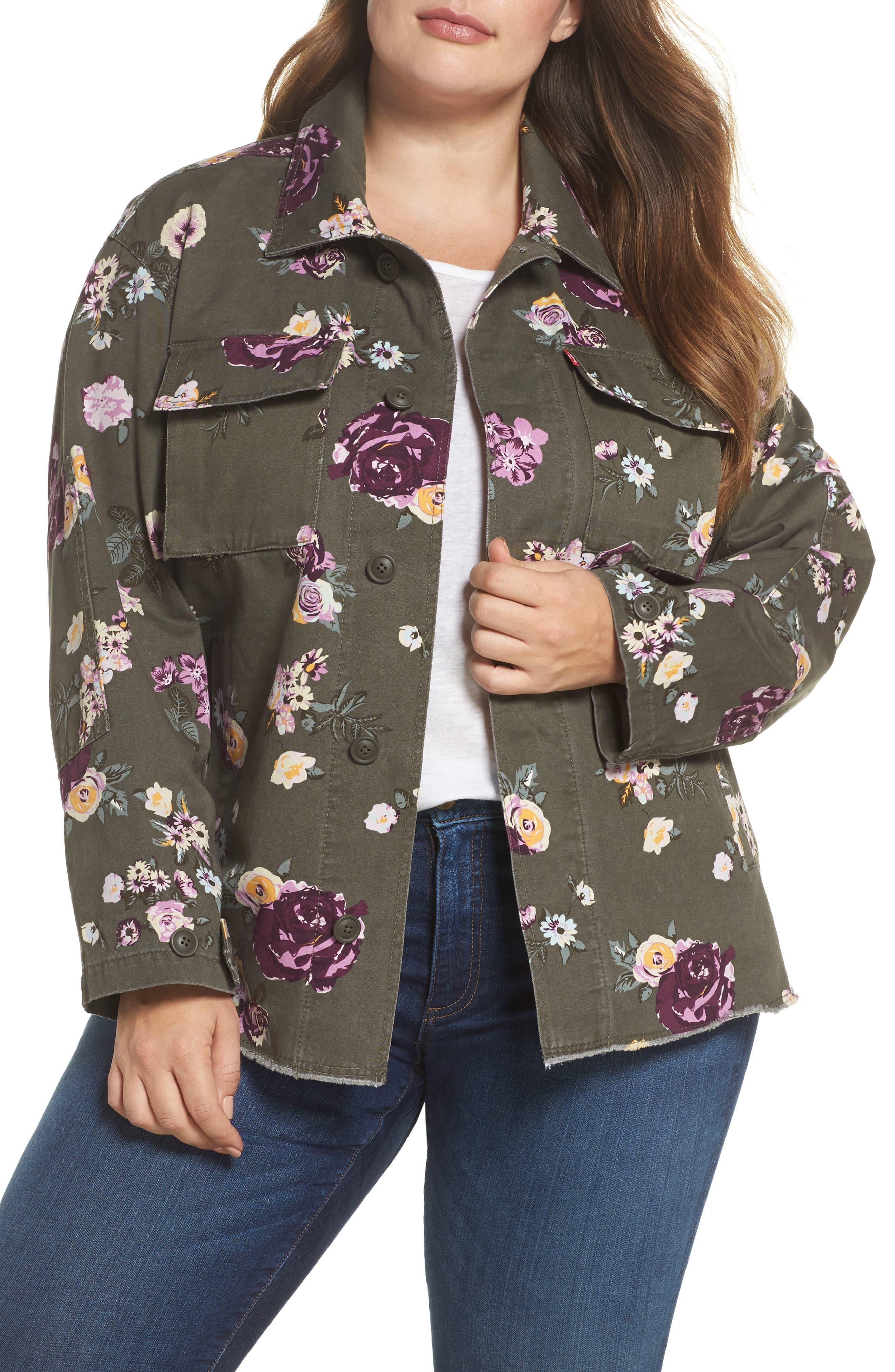 High/Low Shirt Jacket,                         Main,                         color, 103