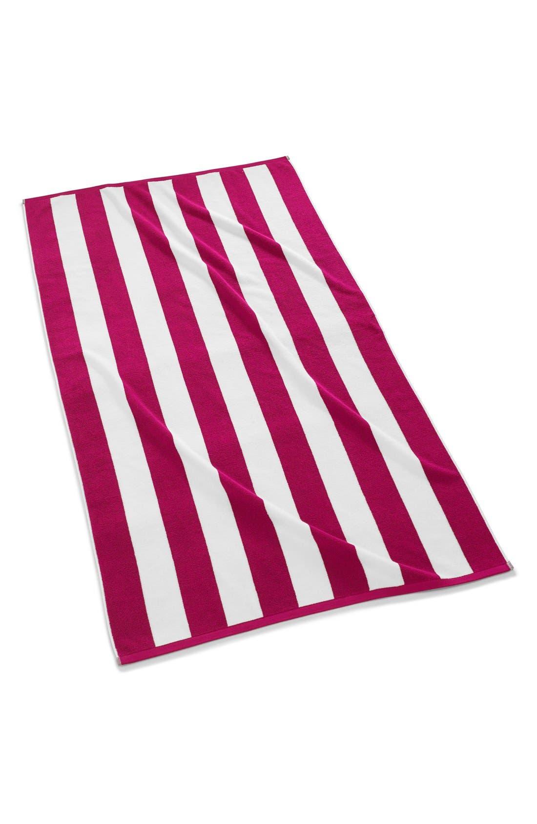 KASSATEX,                             'Cabana' Stripe Beach Towel,                             Main thumbnail 1, color,                             670