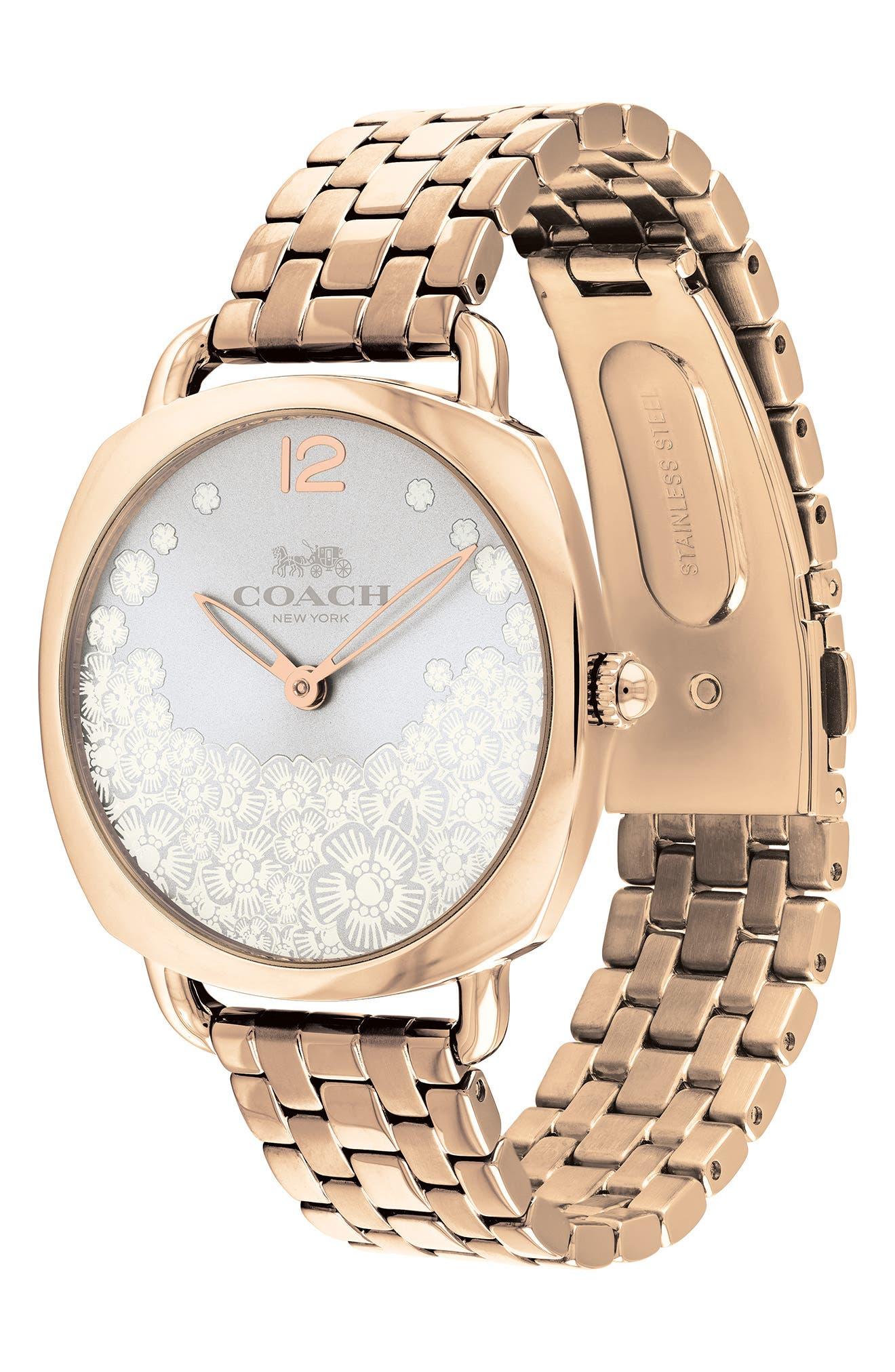 Tatum Slim Bracelet Watch, 36mm,                             Alternate thumbnail 3, color,                             ROSE GOLD/ SILVER