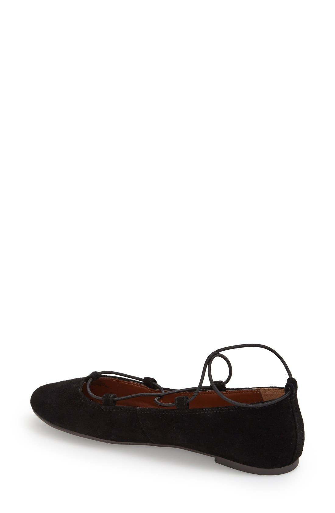 'Aviee' Lace-Up Flat,                             Alternate thumbnail 10, color,