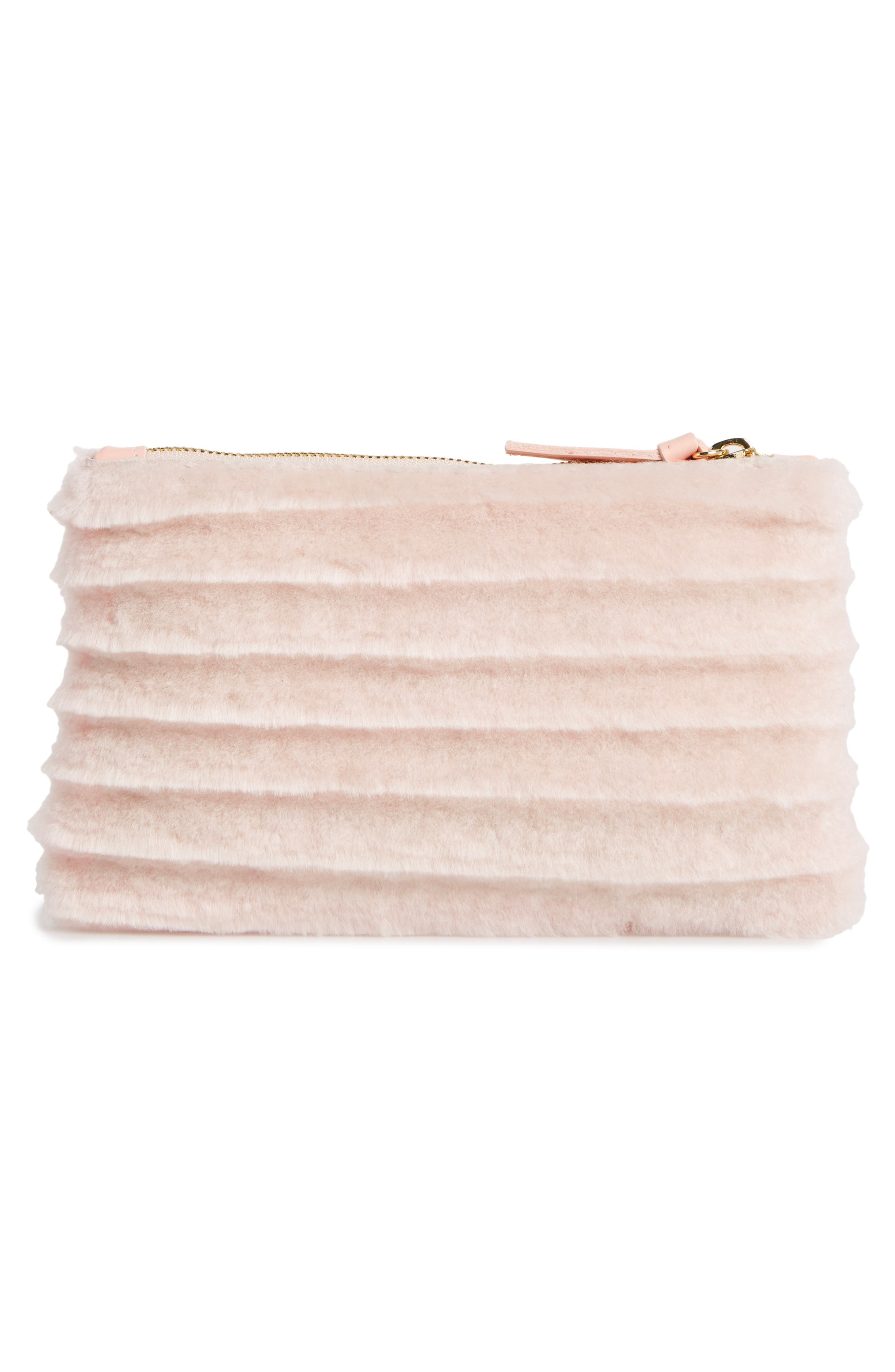 Genuine Shearling Pouch,                             Alternate thumbnail 3, color,                             650