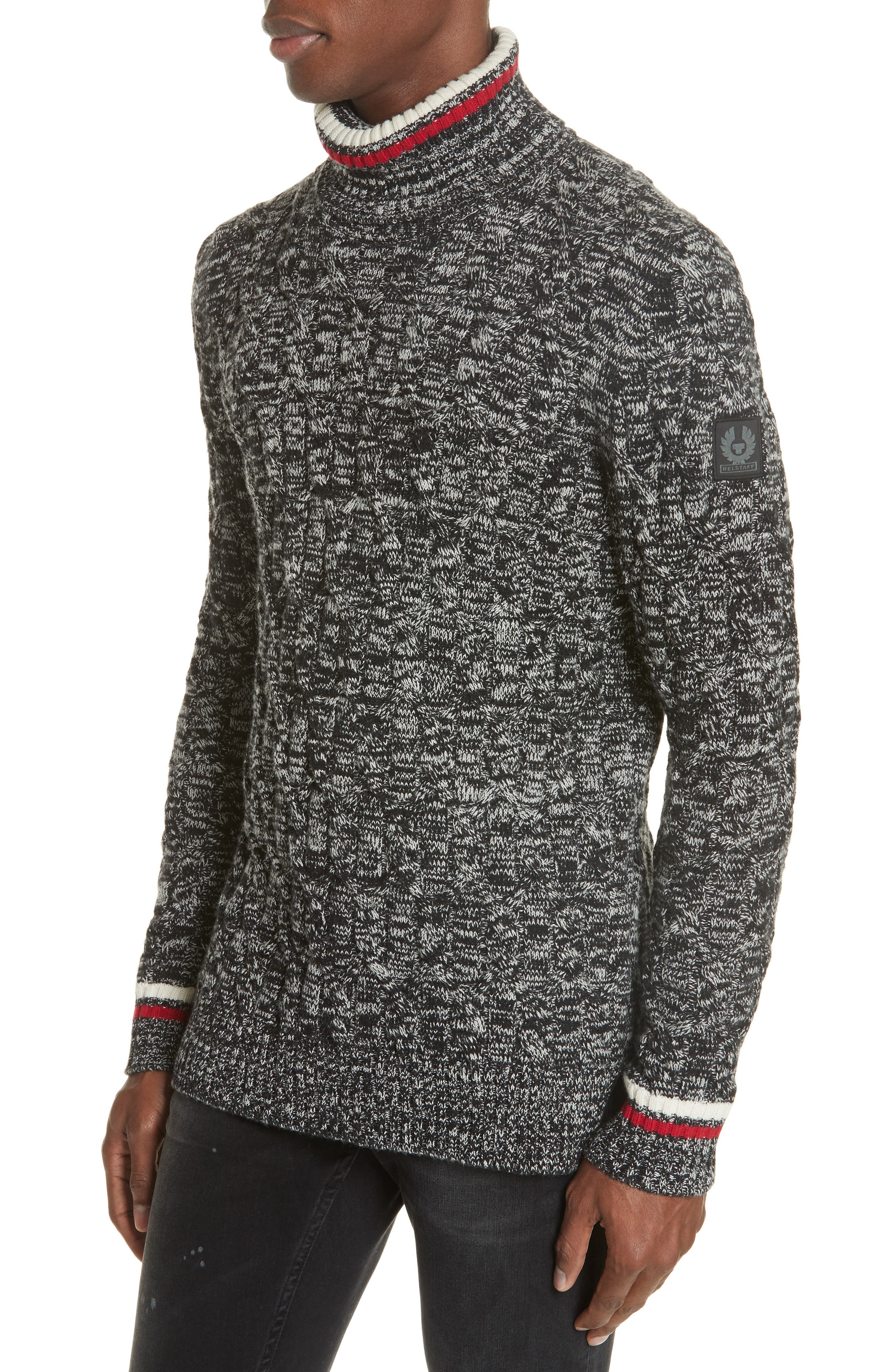 Howden Wool Turtleneck Sweater,                         Main,                         color, BLACK
