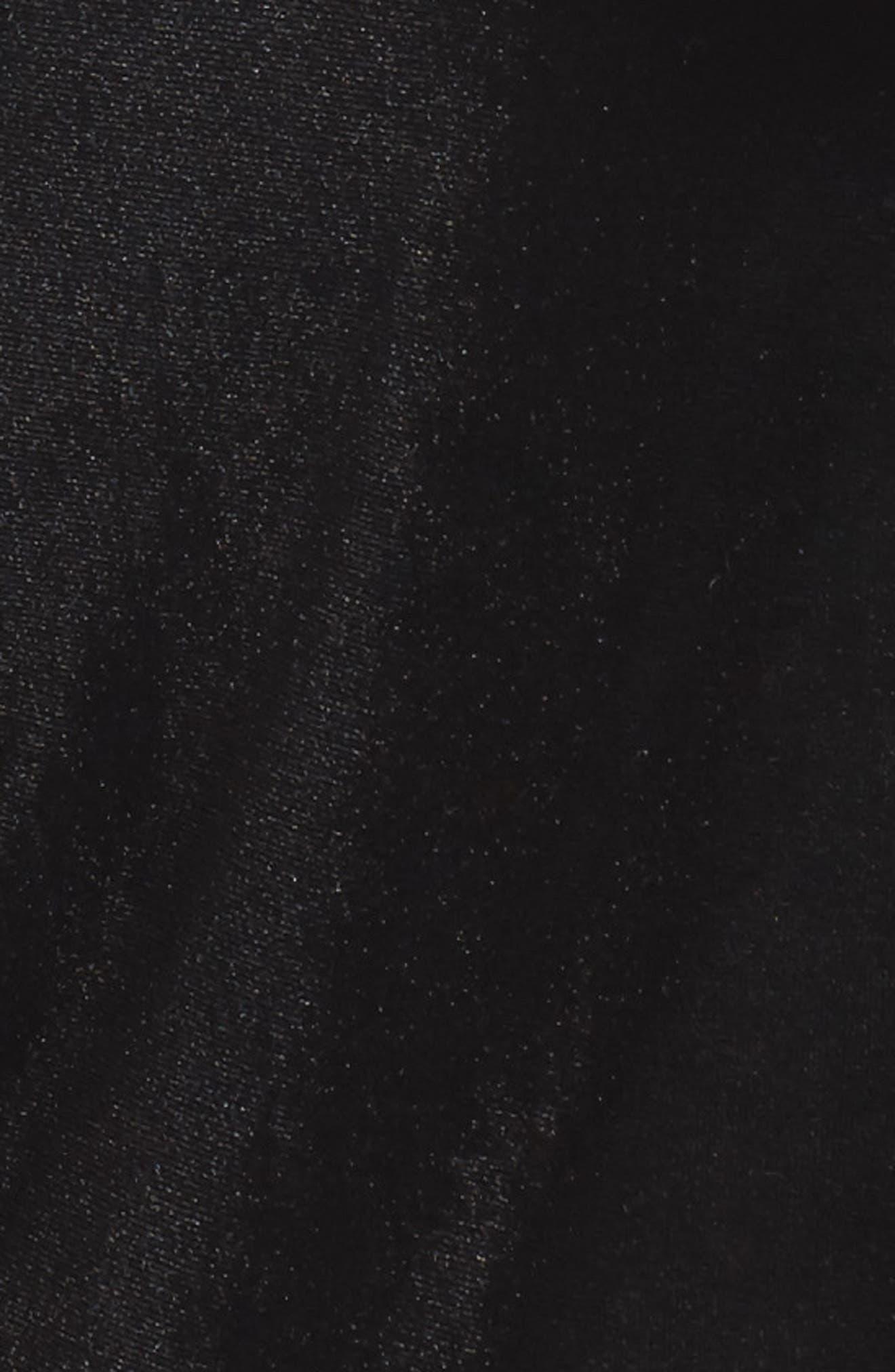Agne Velvet Wrap Dress,                             Alternate thumbnail 5, color,                             013