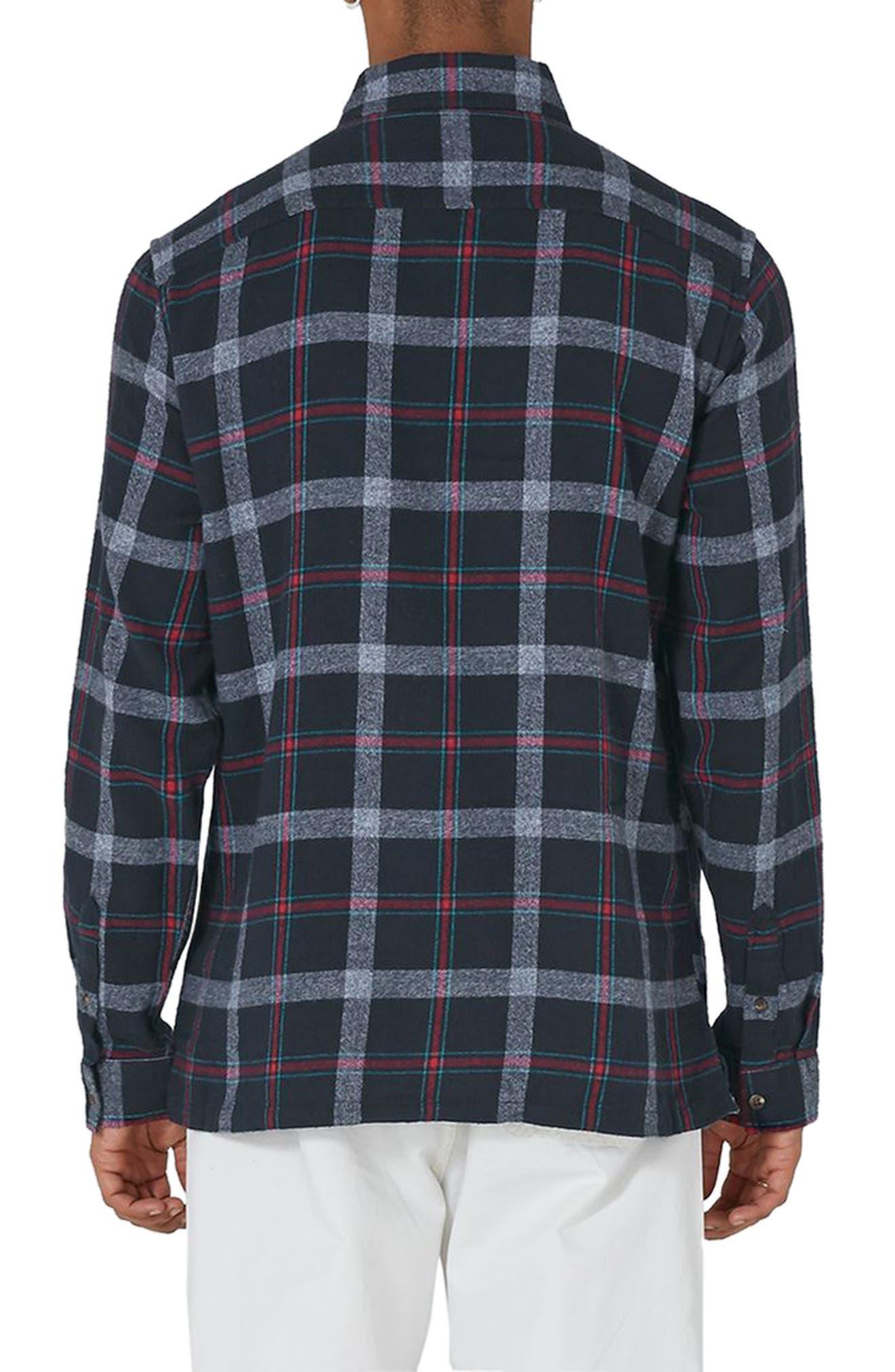 Half Zip Check Shirt,                             Alternate thumbnail 2, color,                             400