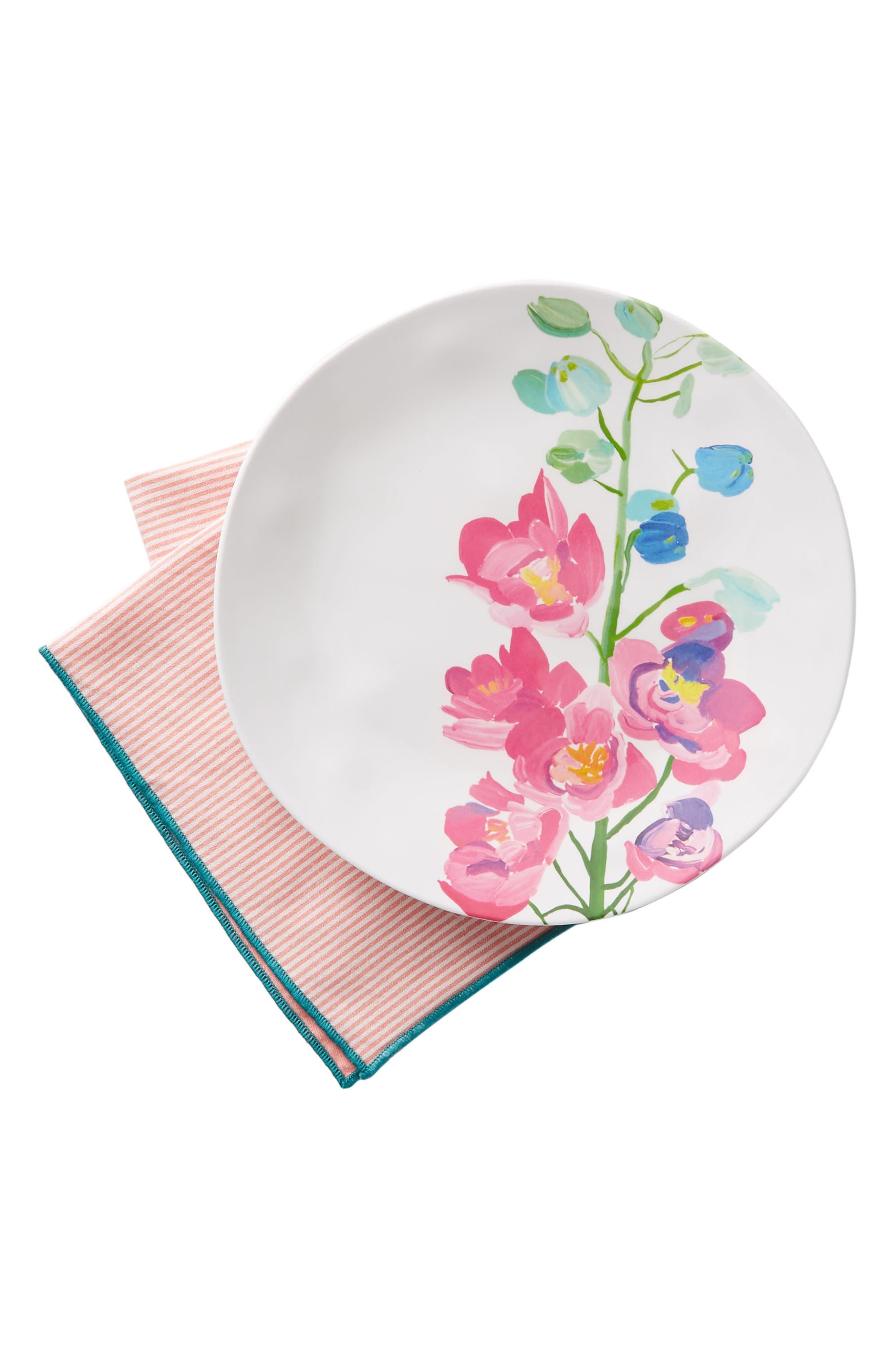 Paint + Petals Melamine Plate,                             Alternate thumbnail 3, color,                             105