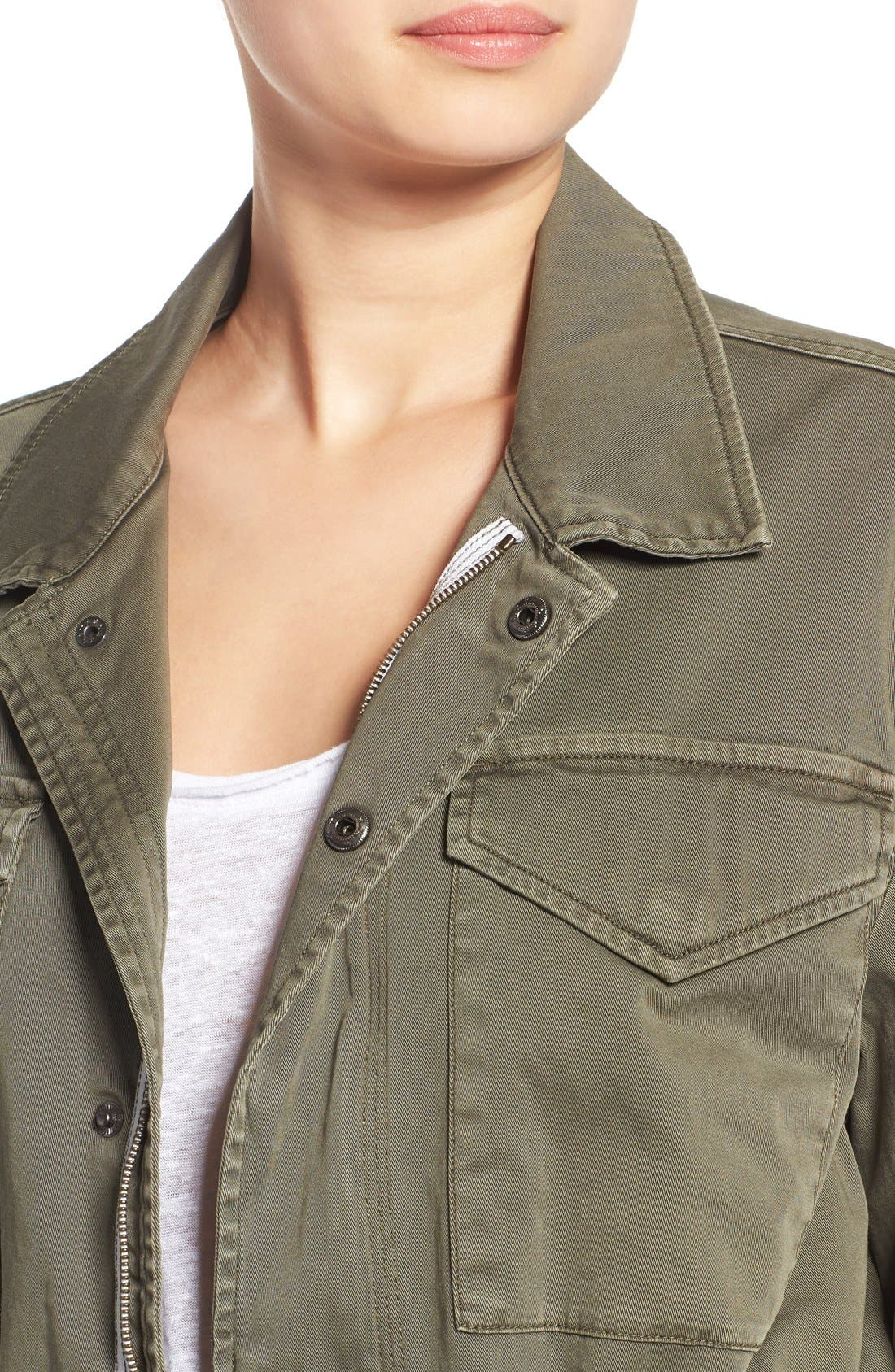'Sienna' Stretch Cotton Field Jacket,                             Alternate thumbnail 4, color,                             300