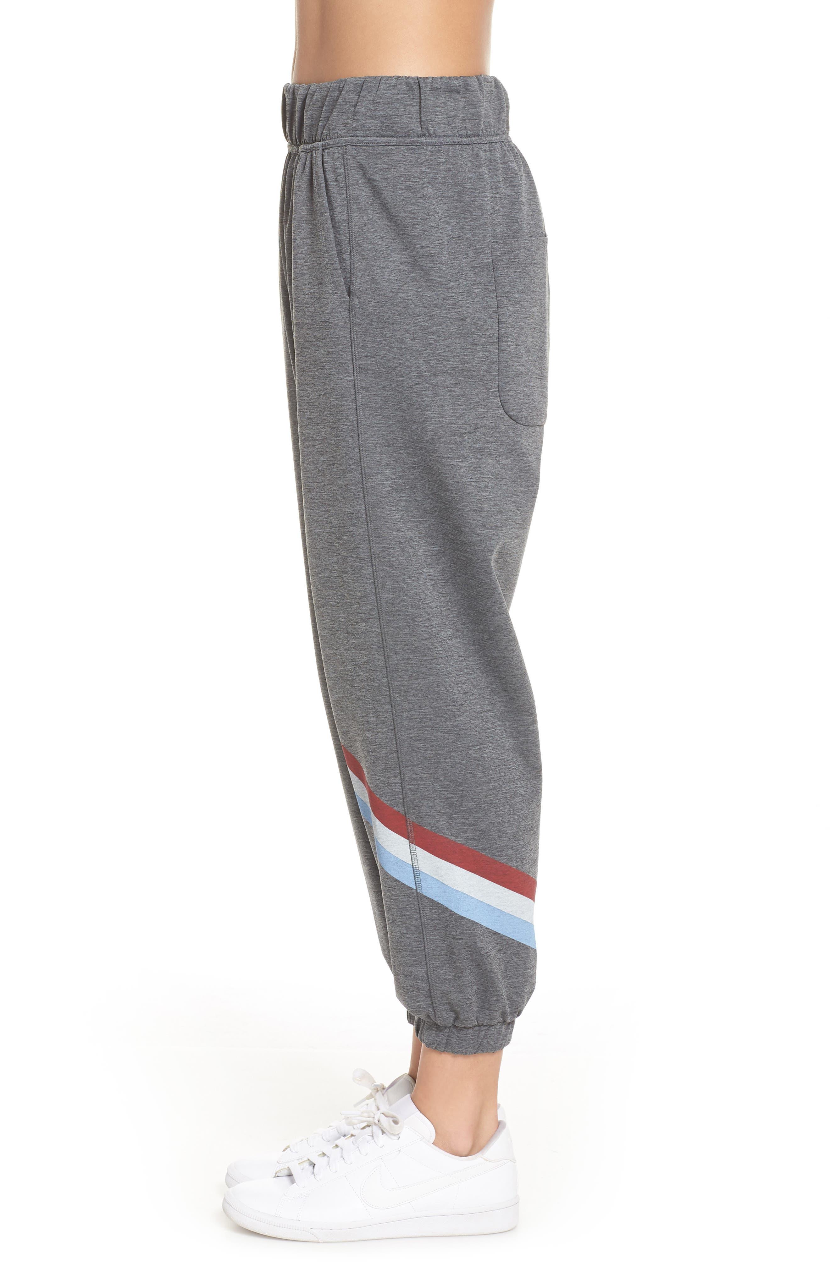 Cool Down Swirl Stripe Sweatpants,                             Alternate thumbnail 3, color,                             020