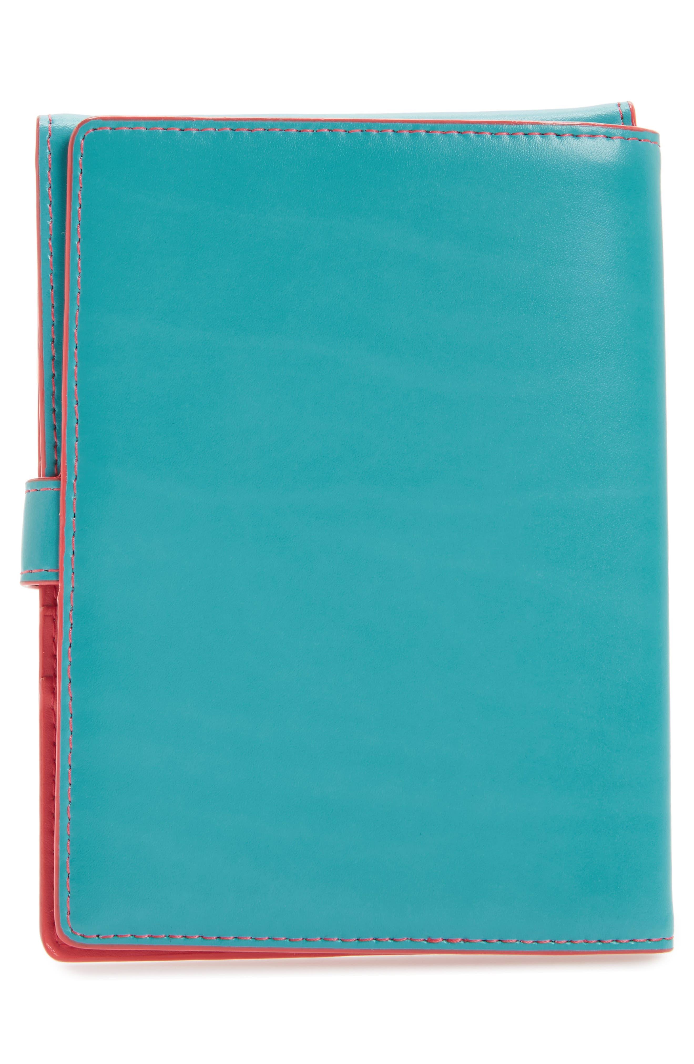 Audrey RFID Leather Passport Wallet,                             Alternate thumbnail 25, color,