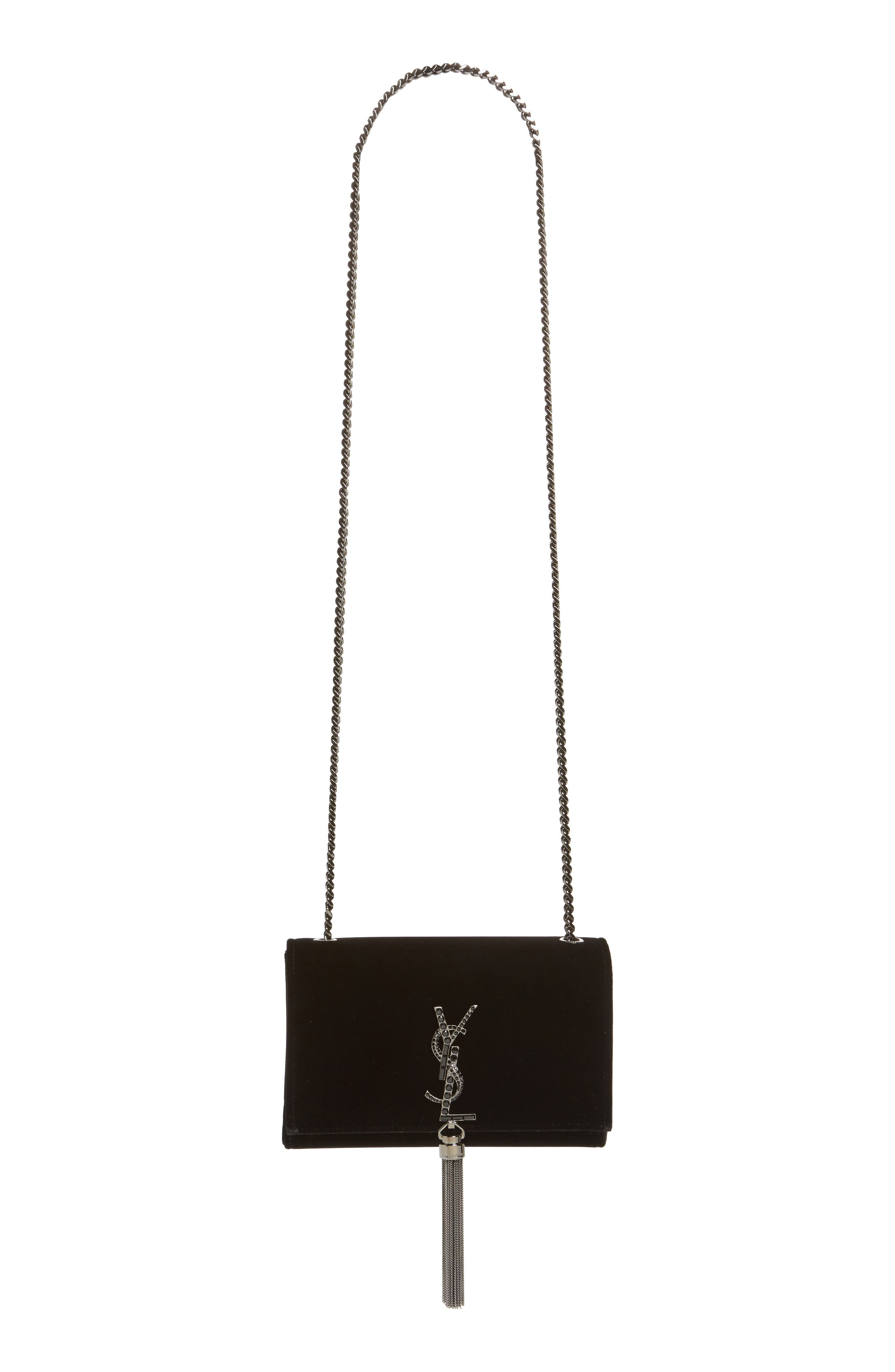 Small Kate Velvet Crossbody Bag,                             Alternate thumbnail 2, color,