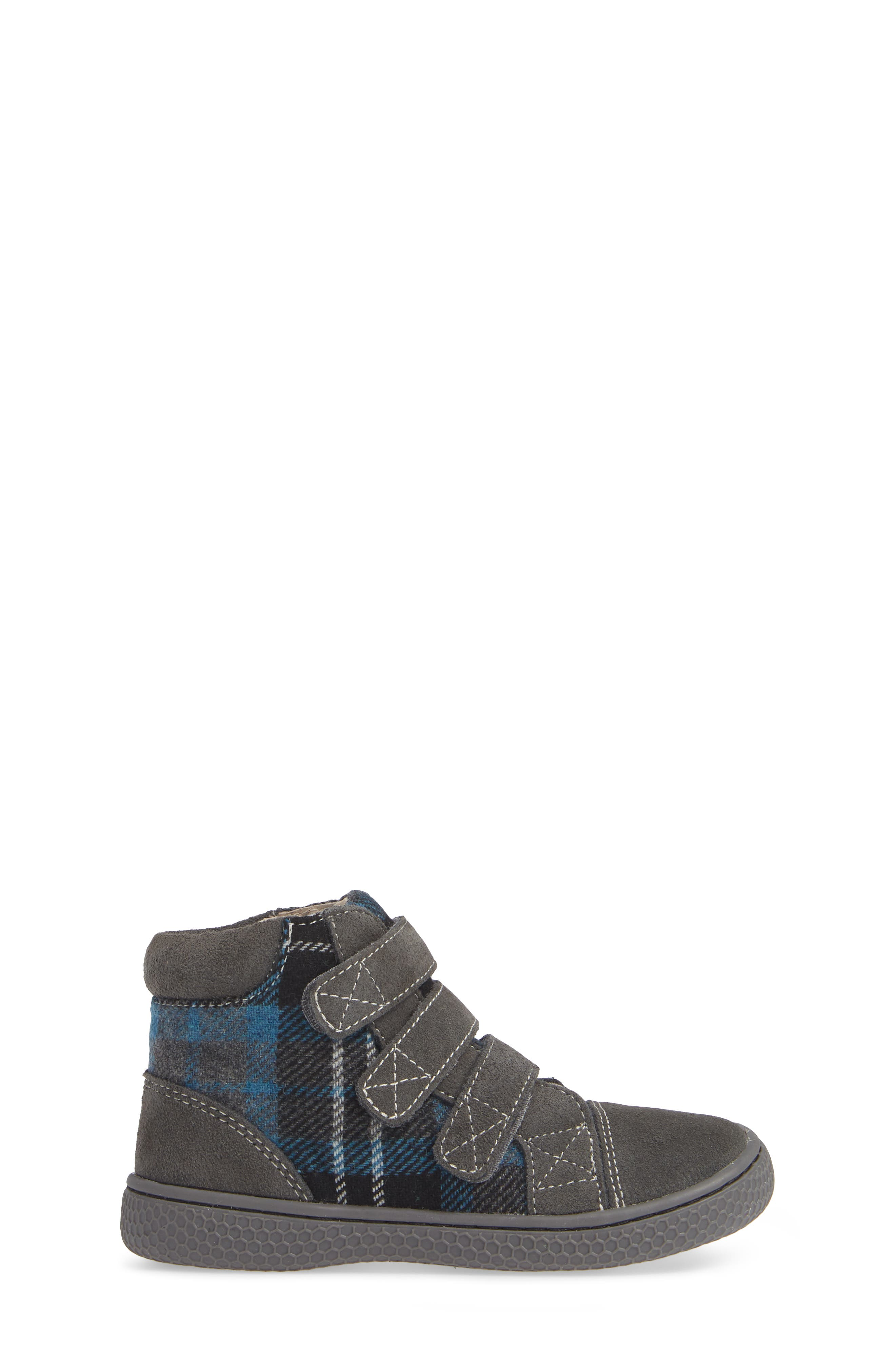 'Jamie' High Top Sneaker,                             Alternate thumbnail 3, color,                             GRAY PLAID