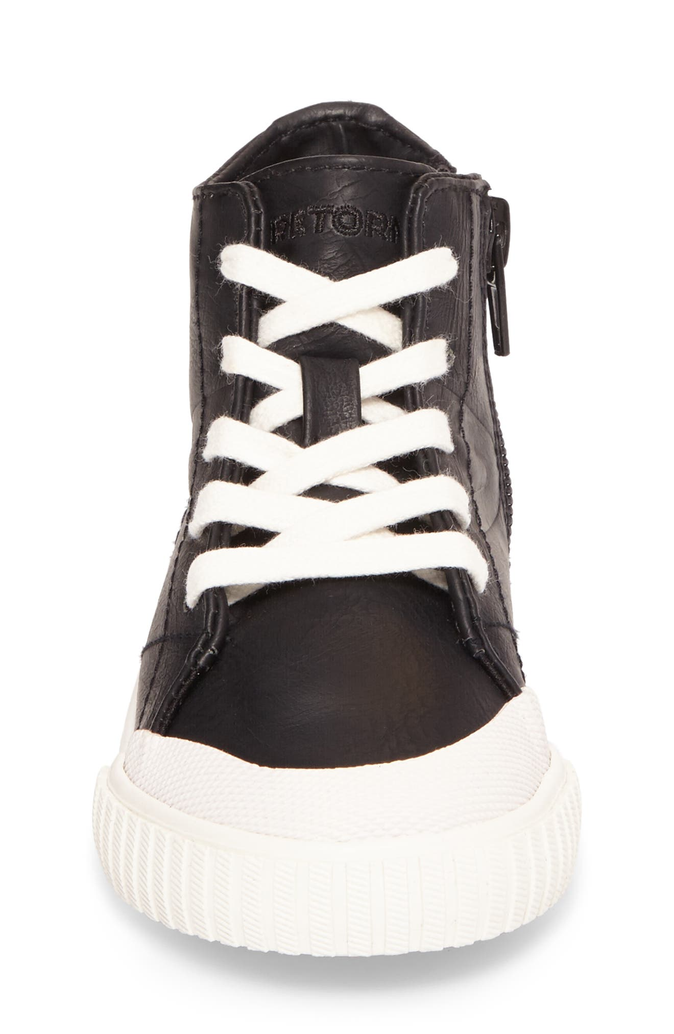 Marley High Top Sneaker,                             Alternate thumbnail 4, color,                             001