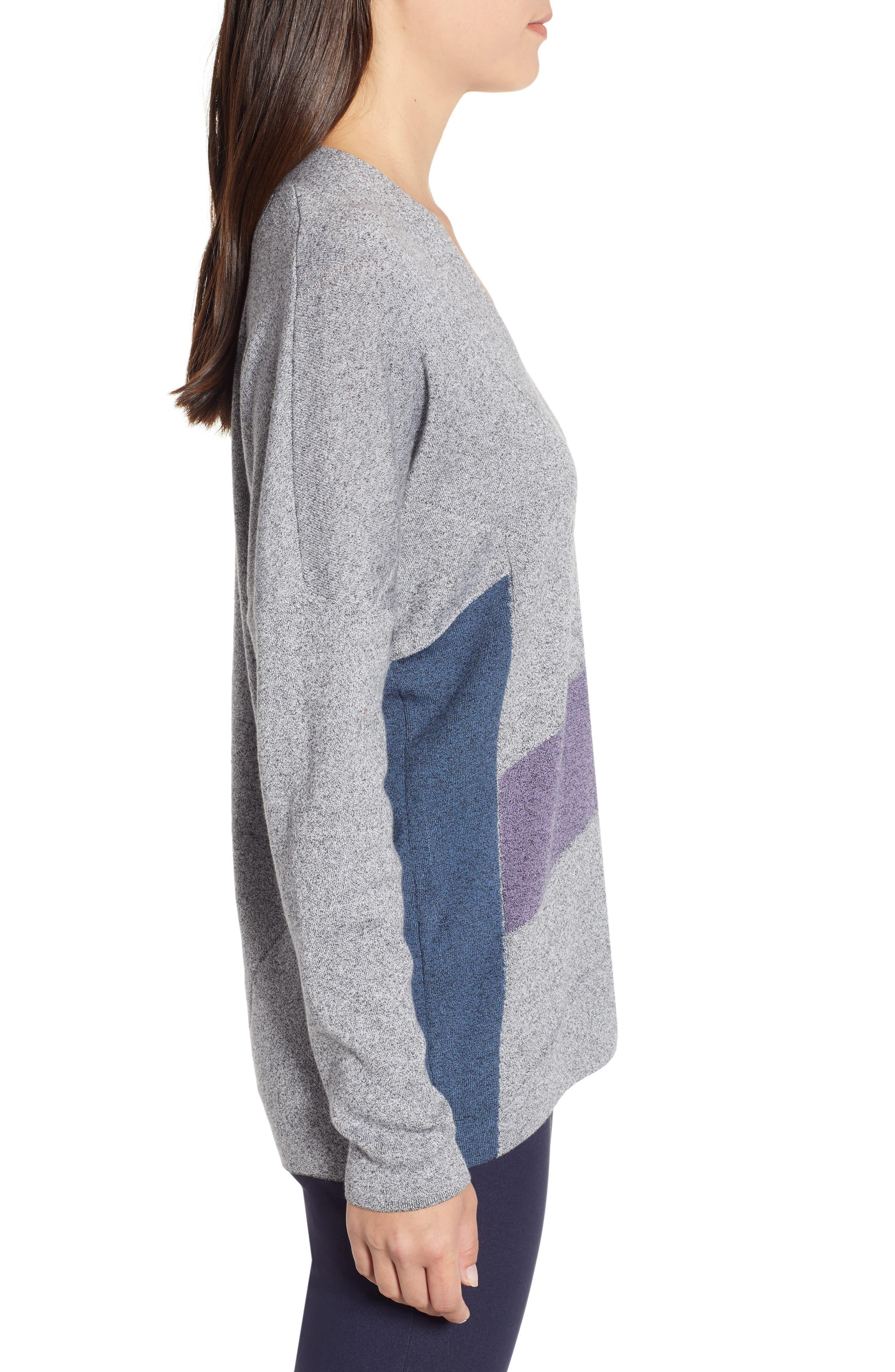 Colorblock Sweater,                             Alternate thumbnail 3, color,                             MULTI