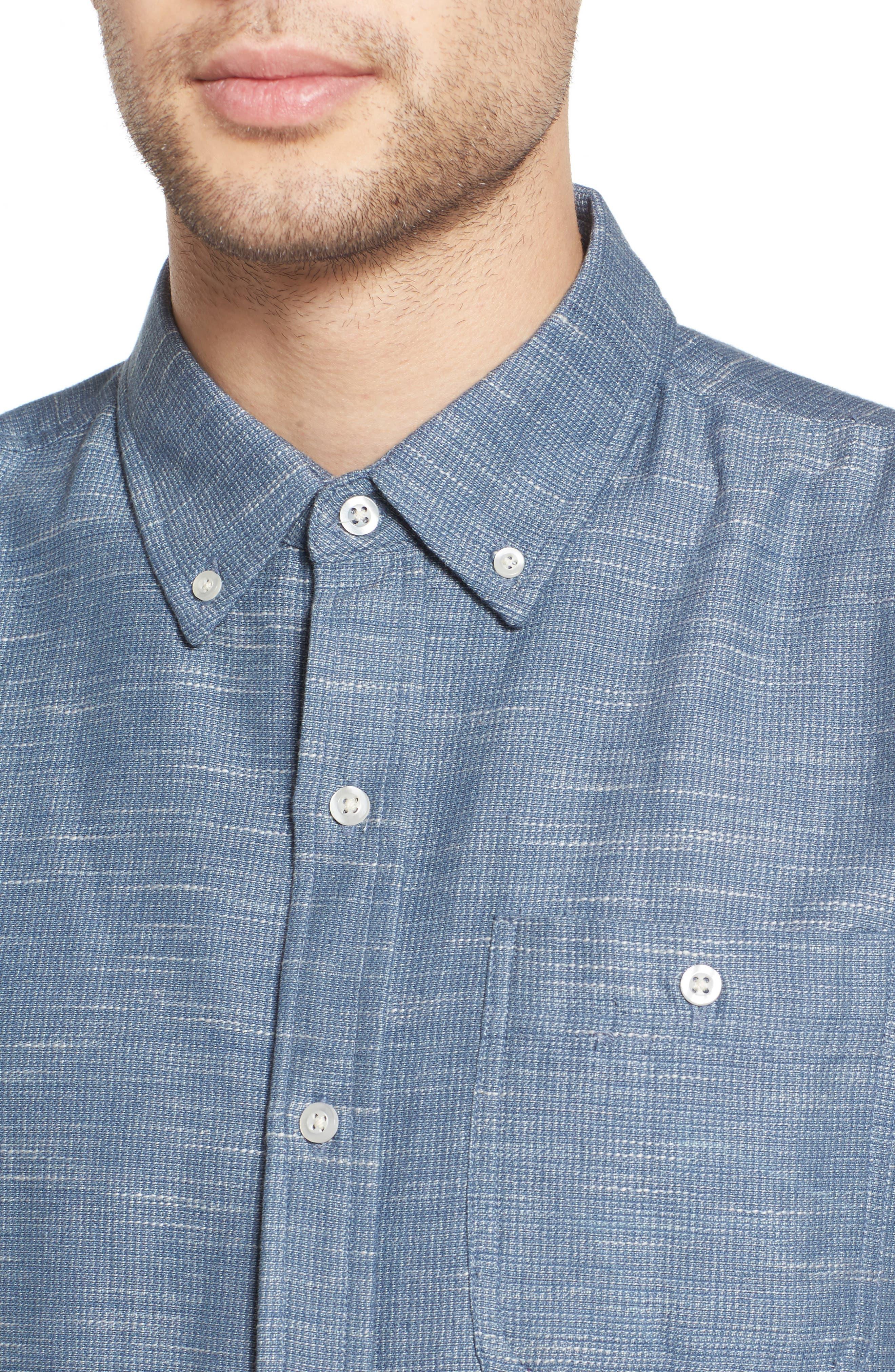 Textured Woven Shirt,                             Alternate thumbnail 4, color,                             476