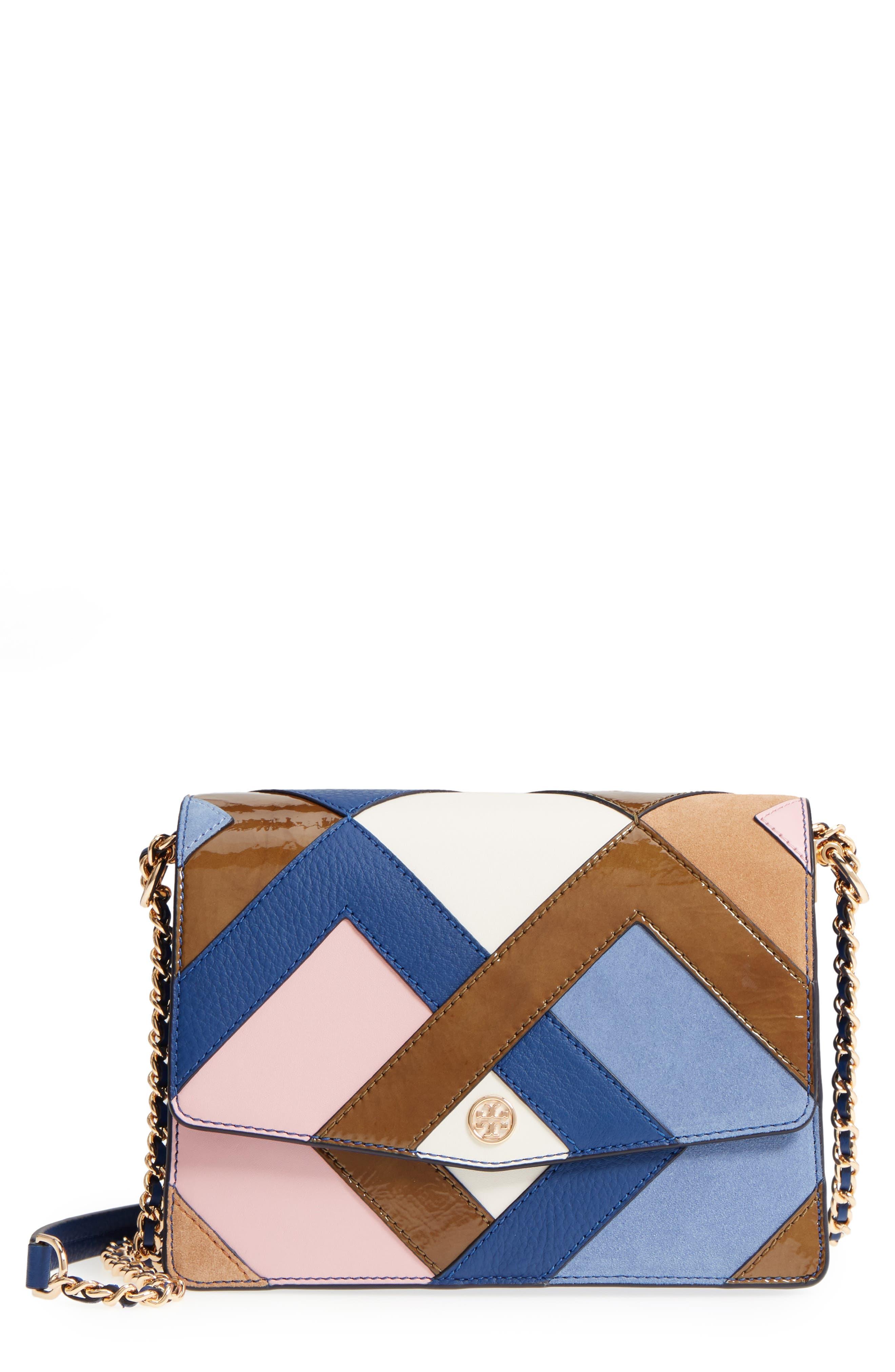 Robinson Pieced Shoulder Bag,                             Main thumbnail 1, color,                             NAVY MULTI