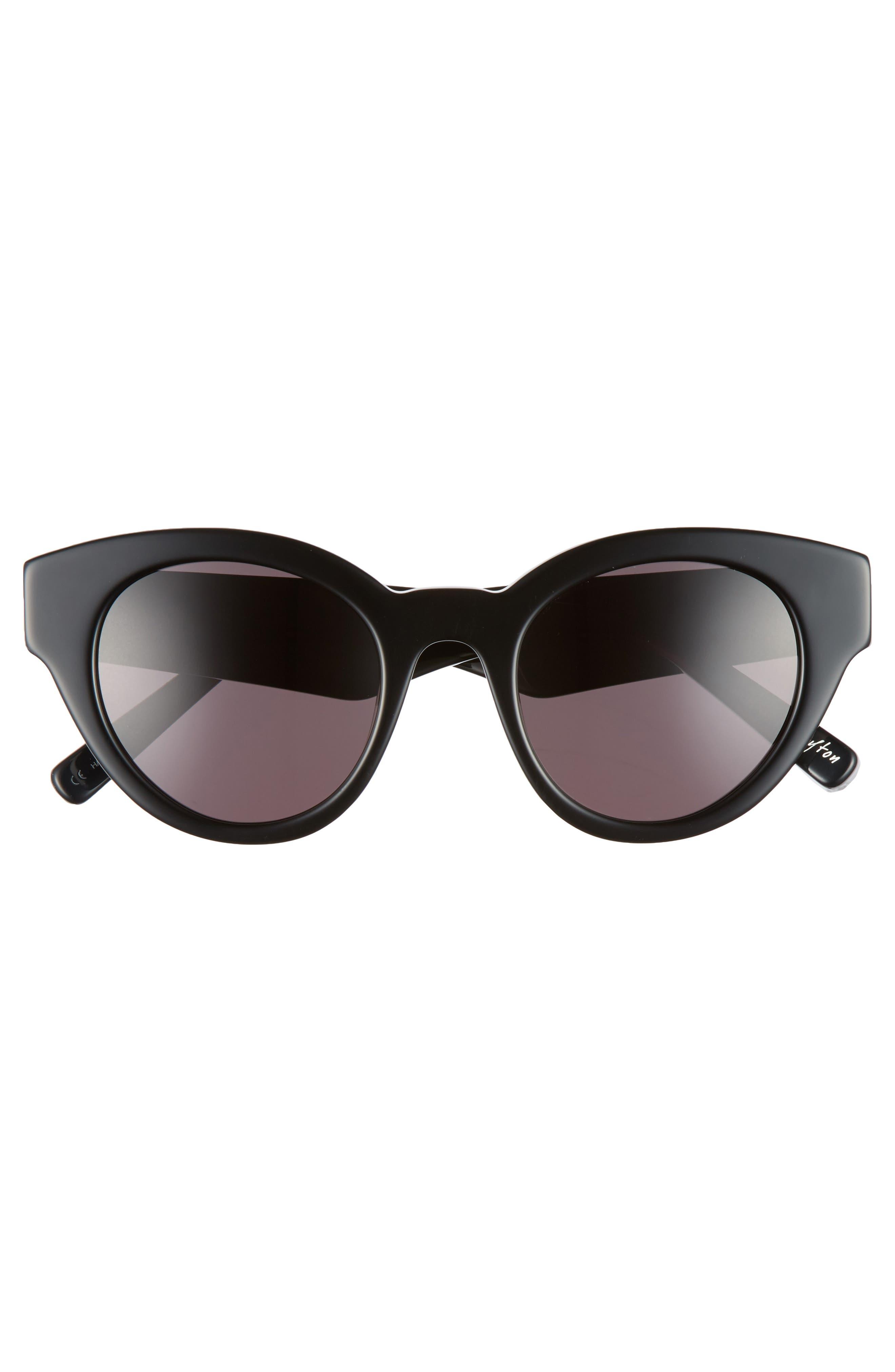 Payton 48mm Cat Eye Sunglasses,                             Alternate thumbnail 3, color,                             001