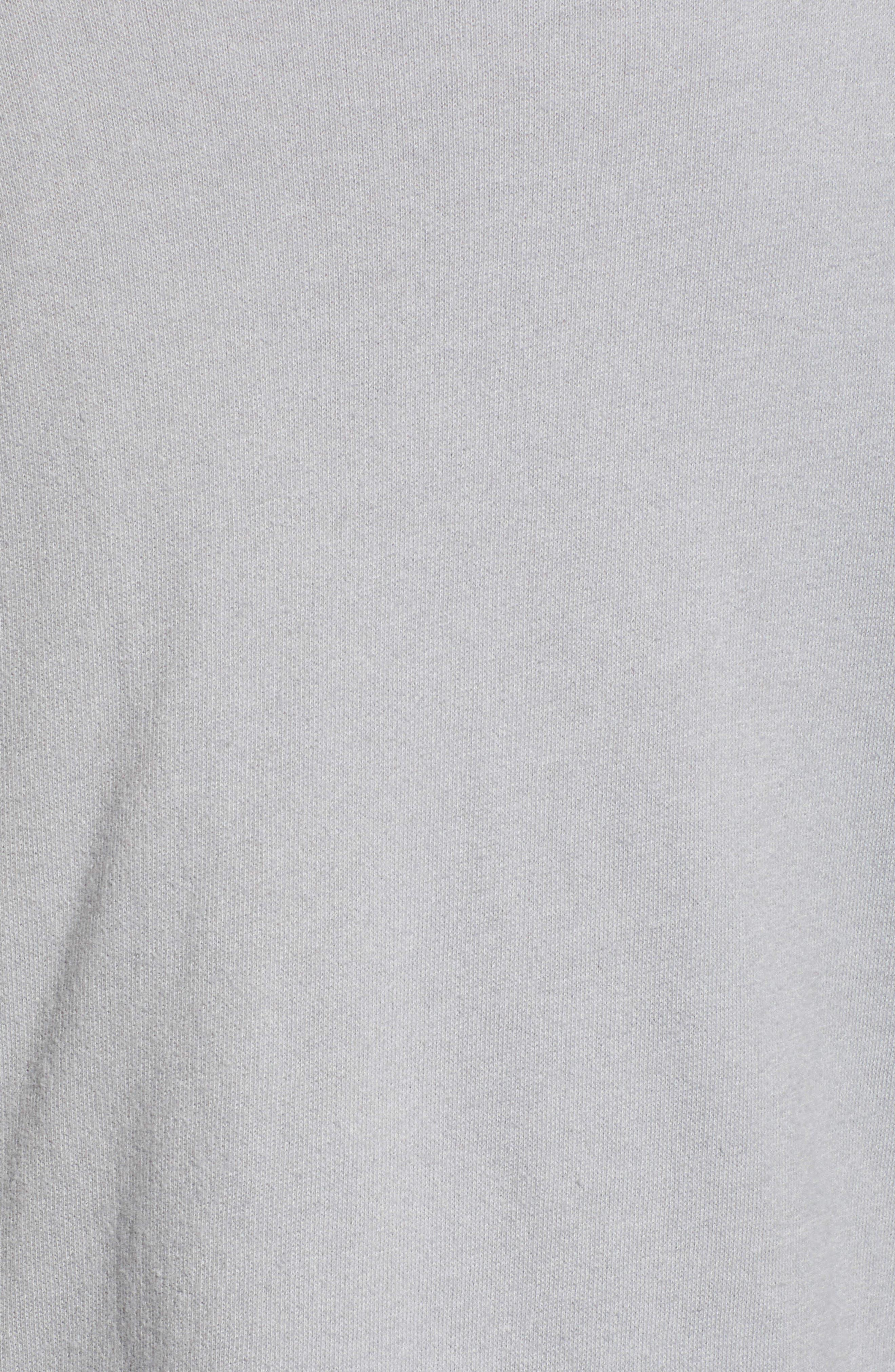 Asymmetrical Drape Collar Terry Jacket,                             Alternate thumbnail 6, color,                             GREY