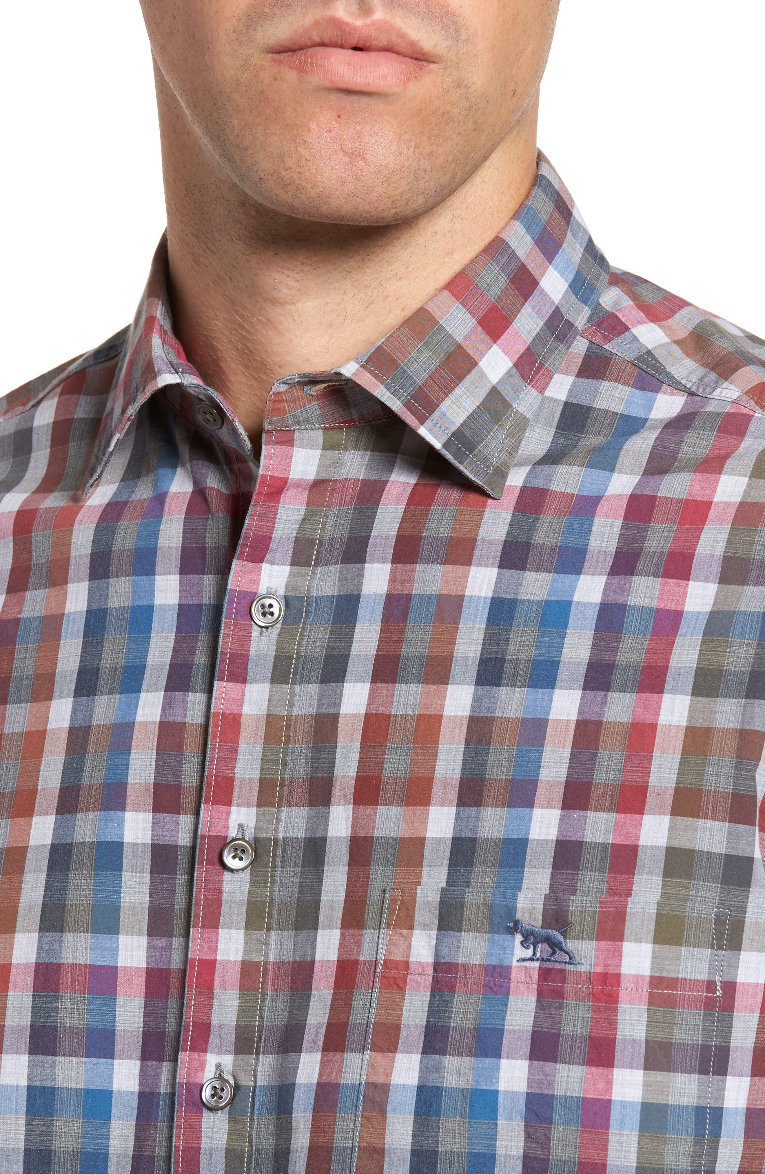 Brookview Sports Fit Plaid Sport Shirt,                             Alternate thumbnail 4, color,                             419