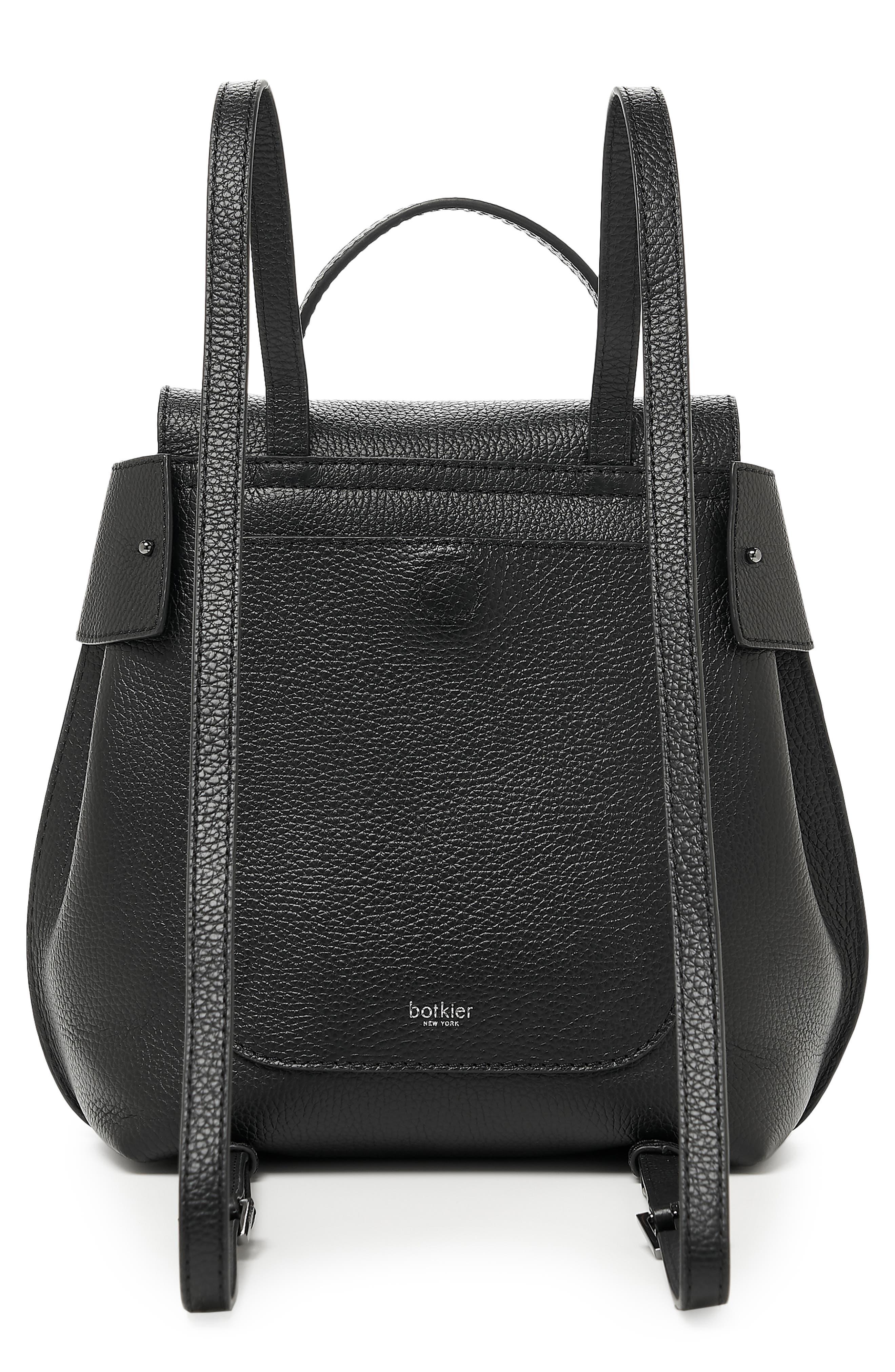 Valentina Wrap Leather Backpack,                             Alternate thumbnail 2, color,                             BLACK