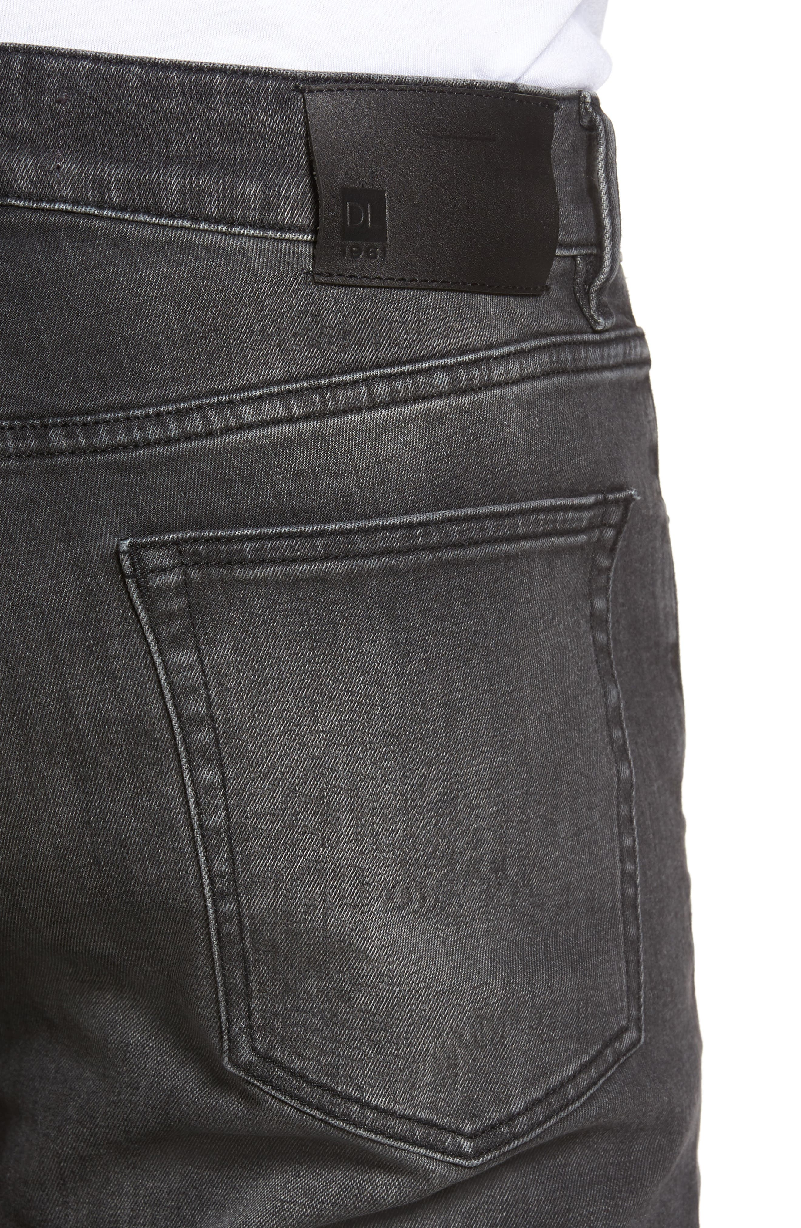 Russell Slim Straight Fit Jeans,                             Alternate thumbnail 4, color,                             020