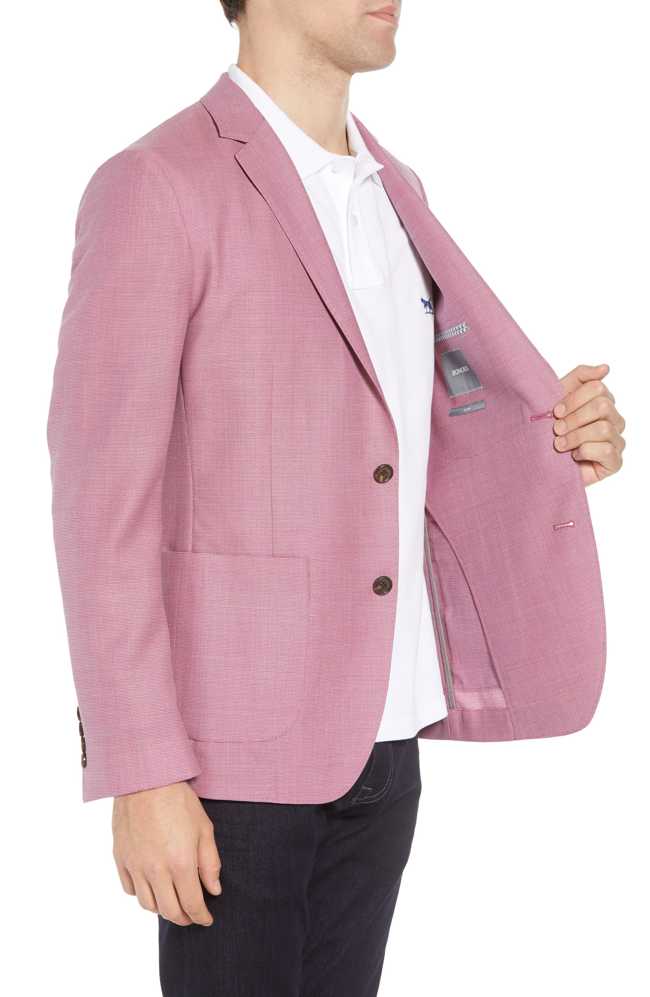 Trim Fit Wool Unconstructed Blazer,                             Alternate thumbnail 9, color,