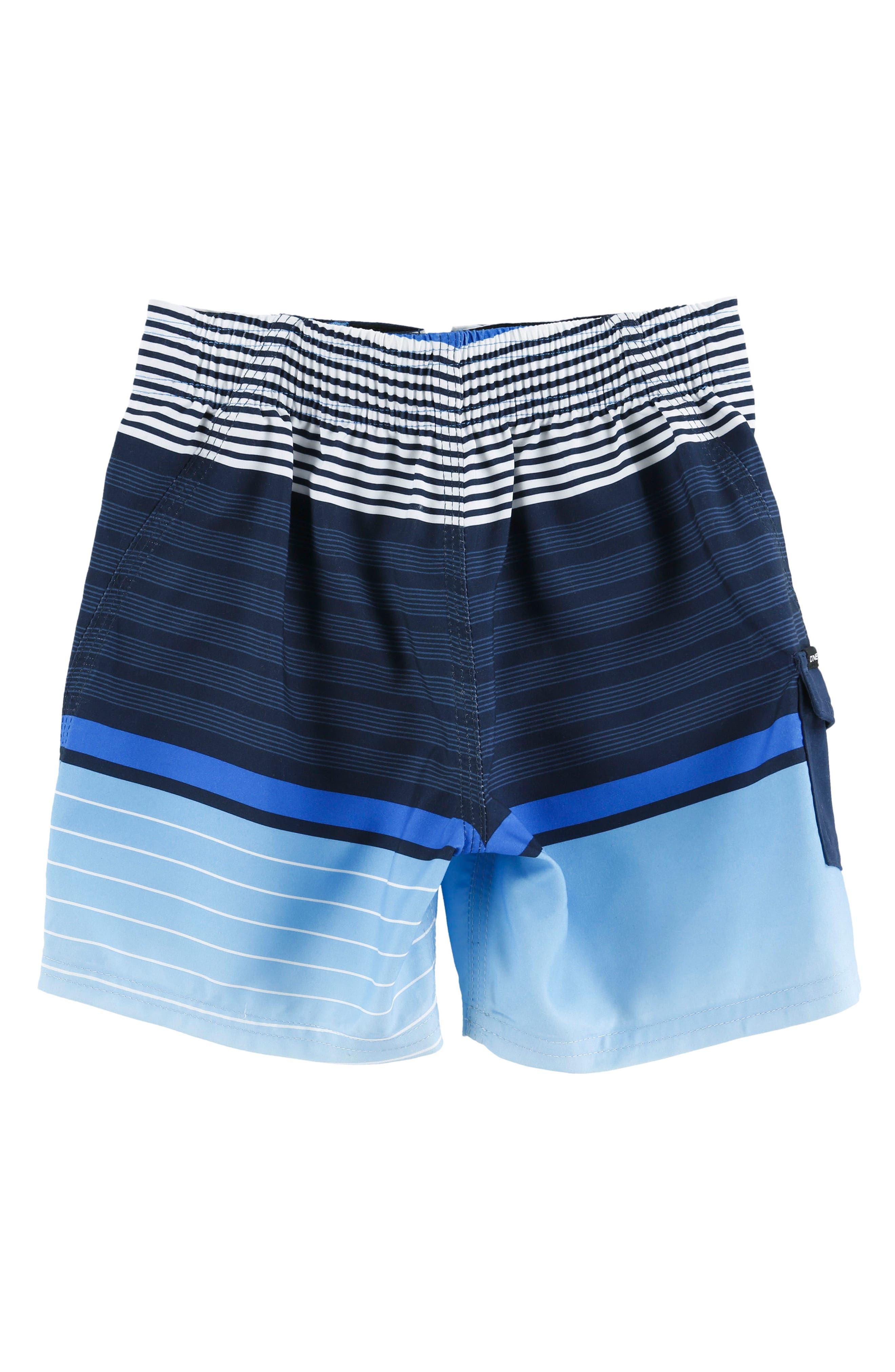 Lennox Stripe Board Shorts,                             Alternate thumbnail 6, color,