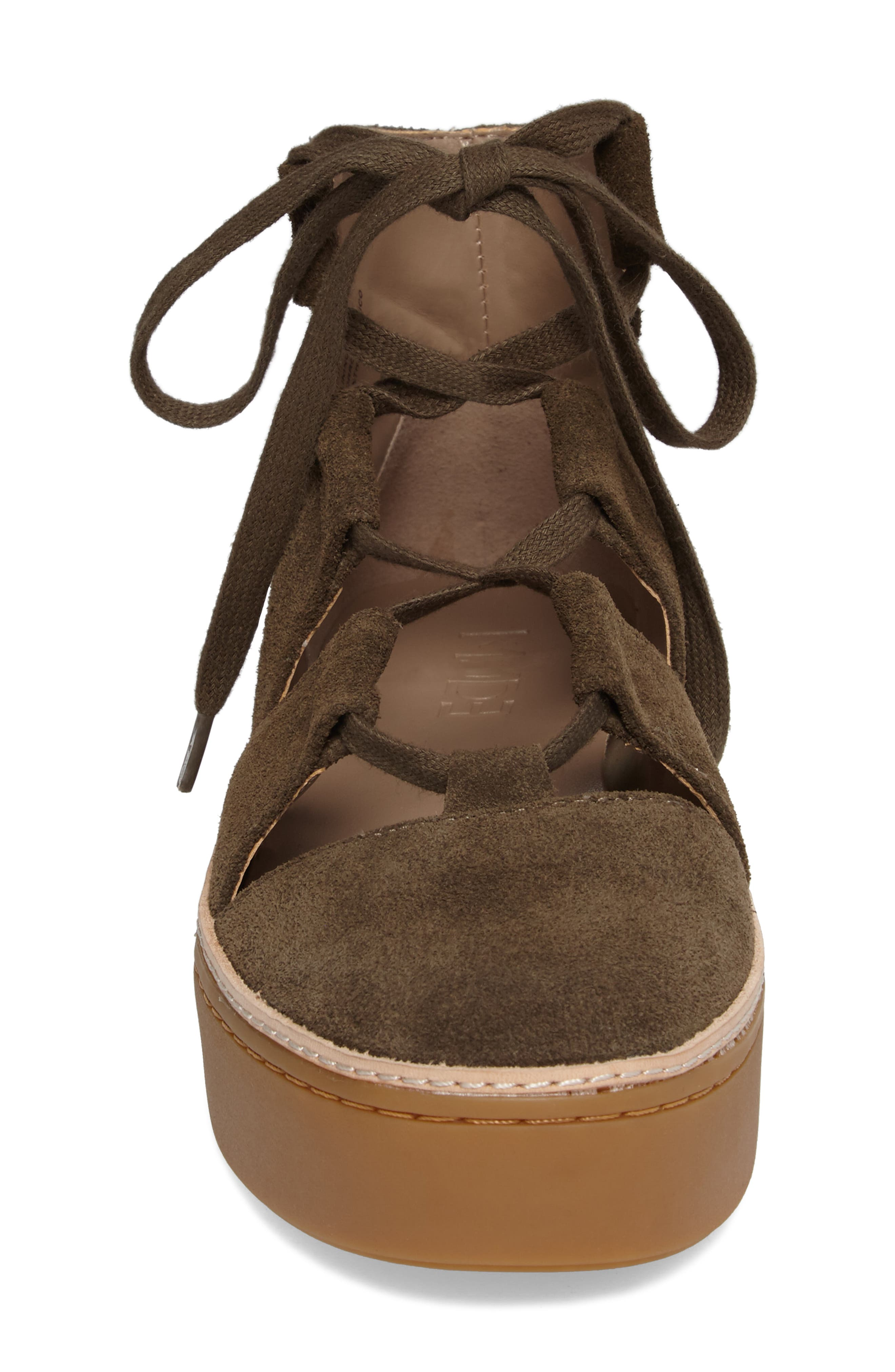 M4D3 Savanah Ghillie Platform Sneaker,                             Alternate thumbnail 4, color,                             DEEP TAUPE LEATHER