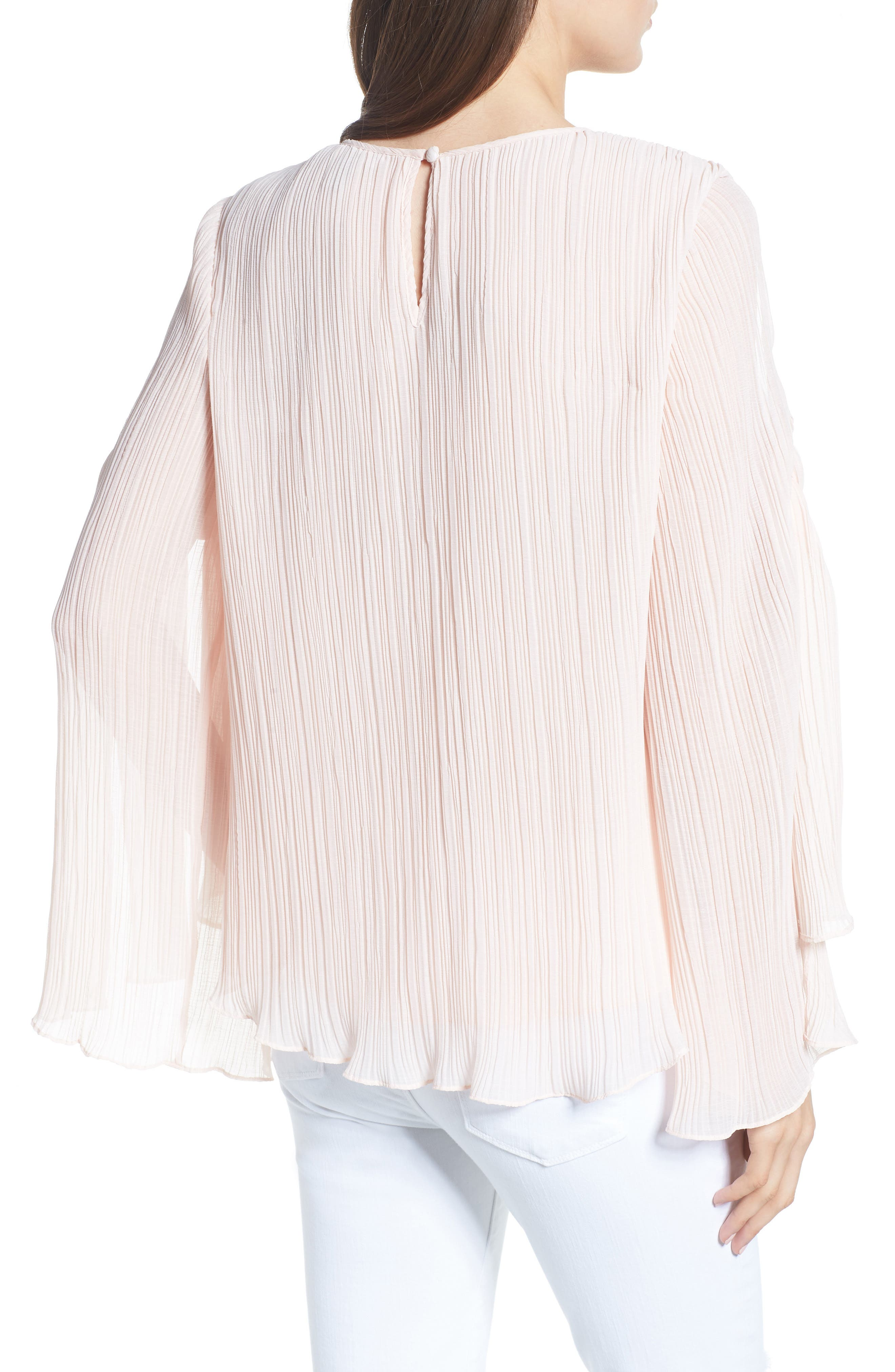 Pleated Tie Sleeve Top,                             Alternate thumbnail 2, color,                             680
