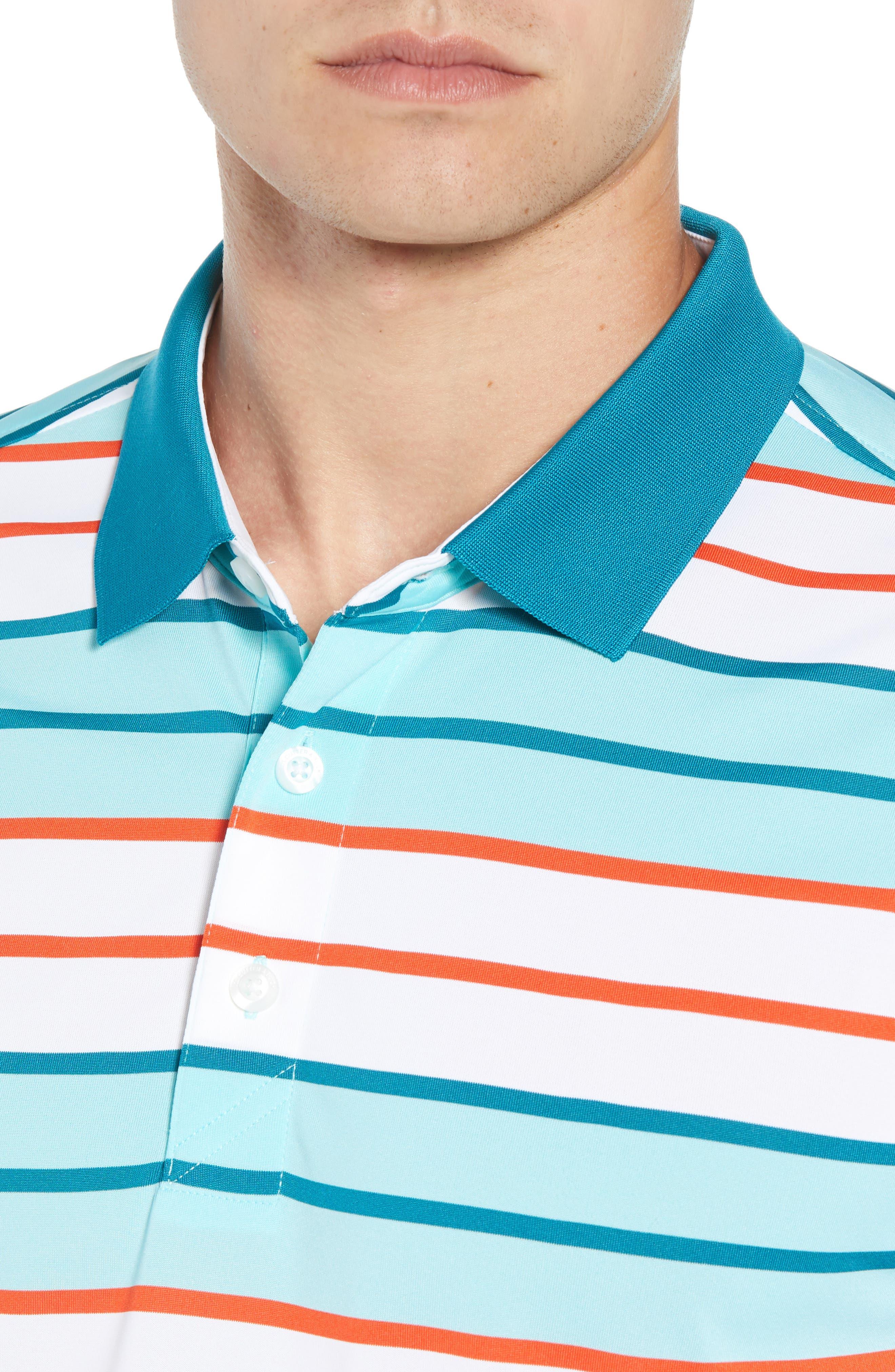 Cody DryTec Striped Polo,                             Alternate thumbnail 4, color,                             AQUATIC
