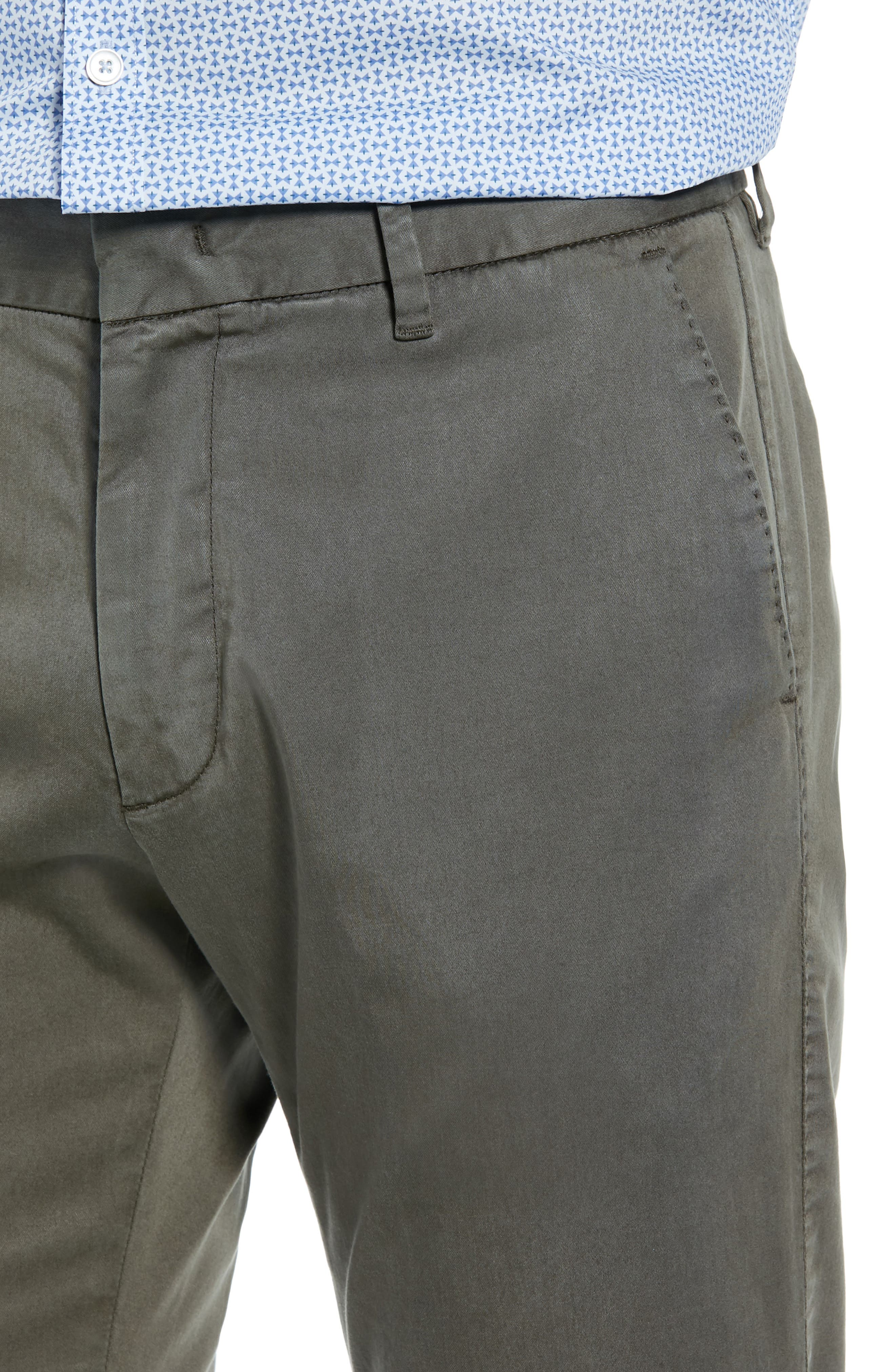 Aster Straight Fit Pants,                             Alternate thumbnail 4, color,                             OLIVE