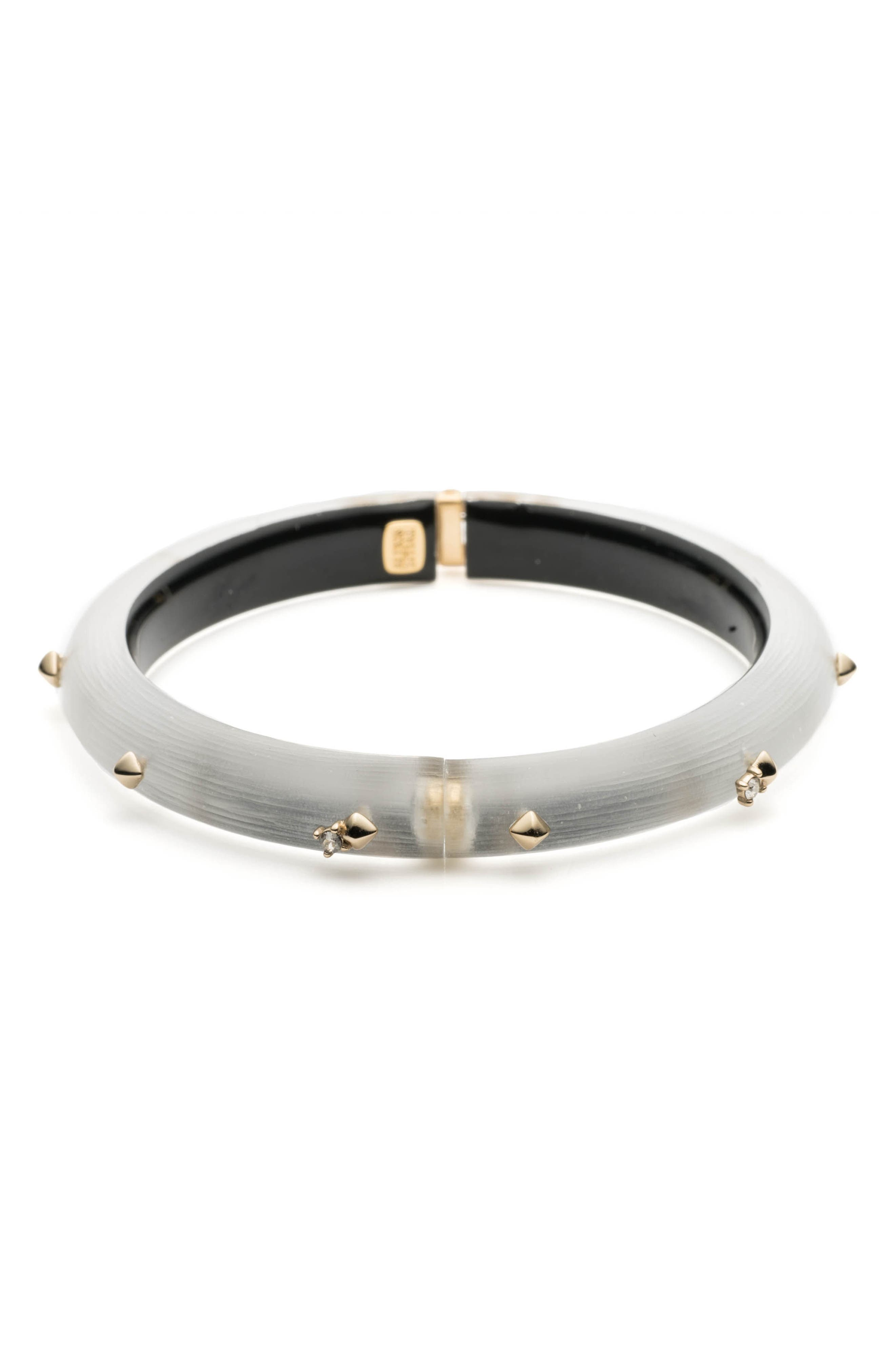 Golden Stud Hinge Bracelet,                             Alternate thumbnail 3, color,                             SILVER