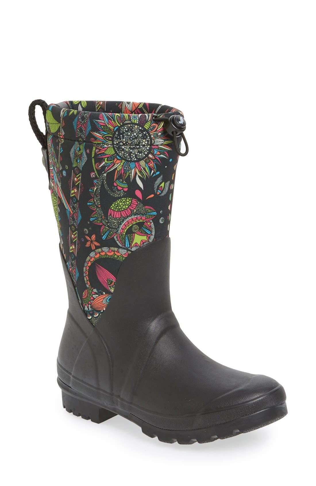 'Mezzo' Waterproof Rain Boot,                             Main thumbnail 1, color,                             003