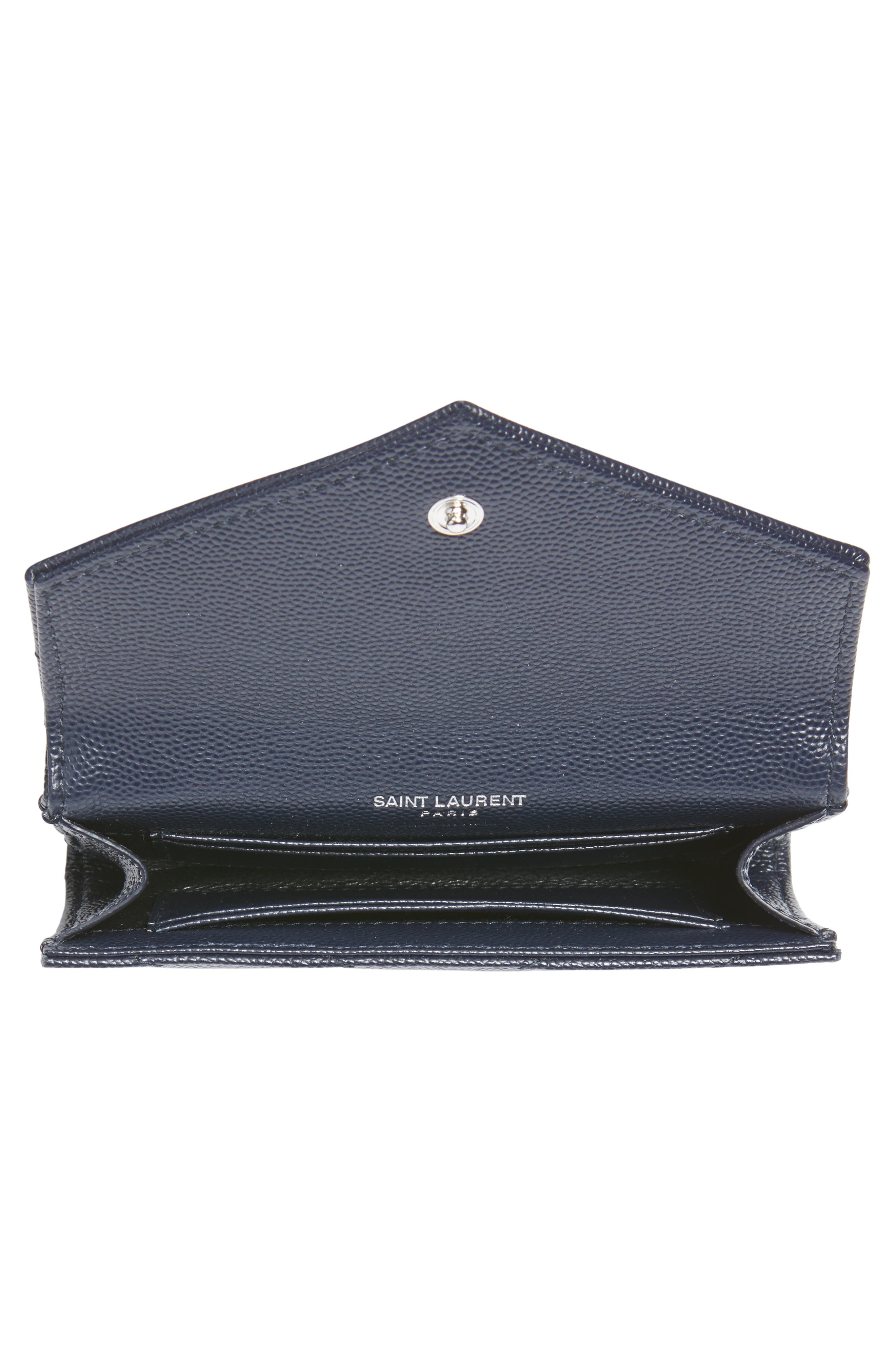 'Small Monogram' Leather French Wallet,                             Alternate thumbnail 10, color,