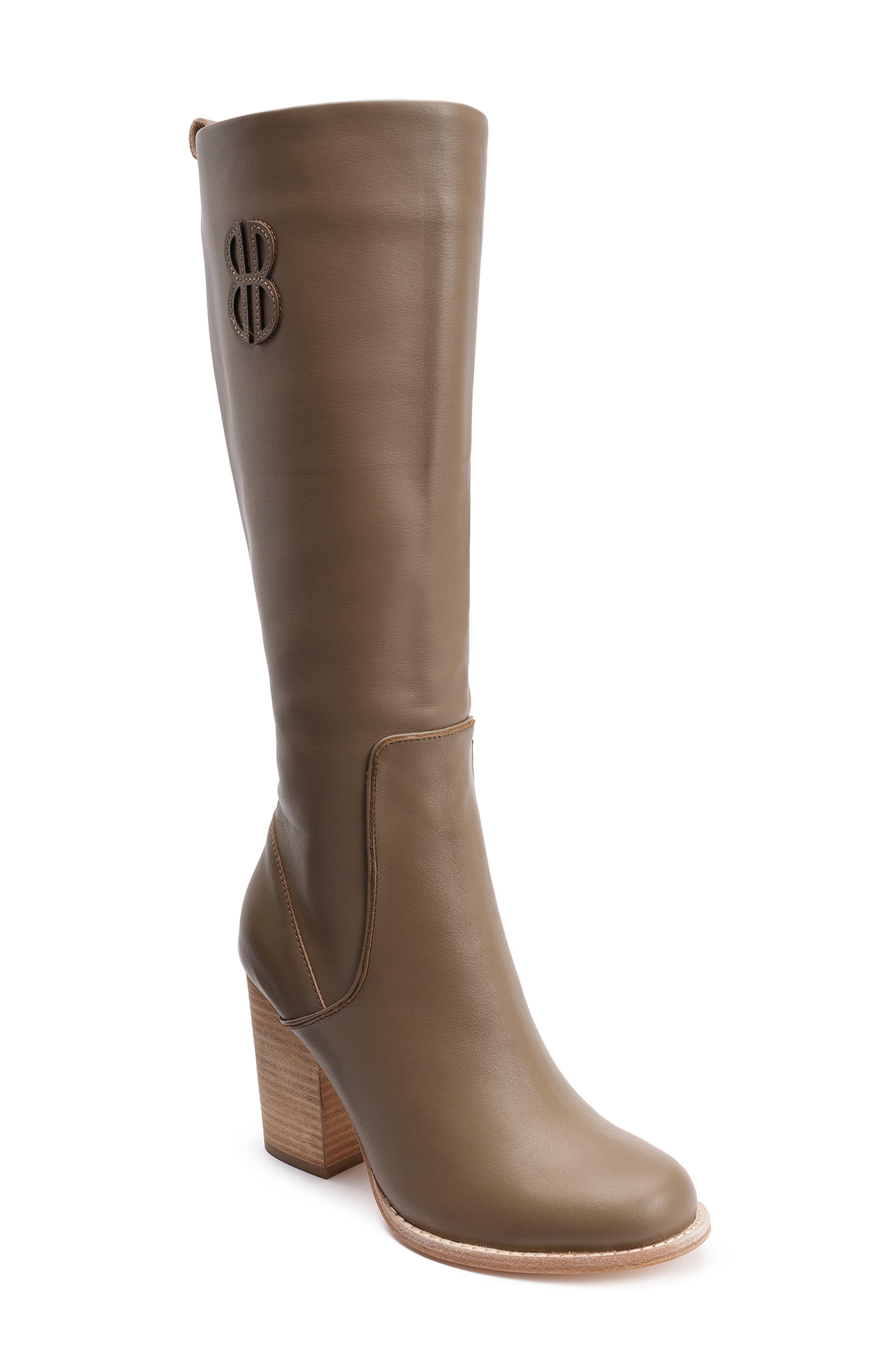 Bill Blass Bb Knee High Boot, Beige