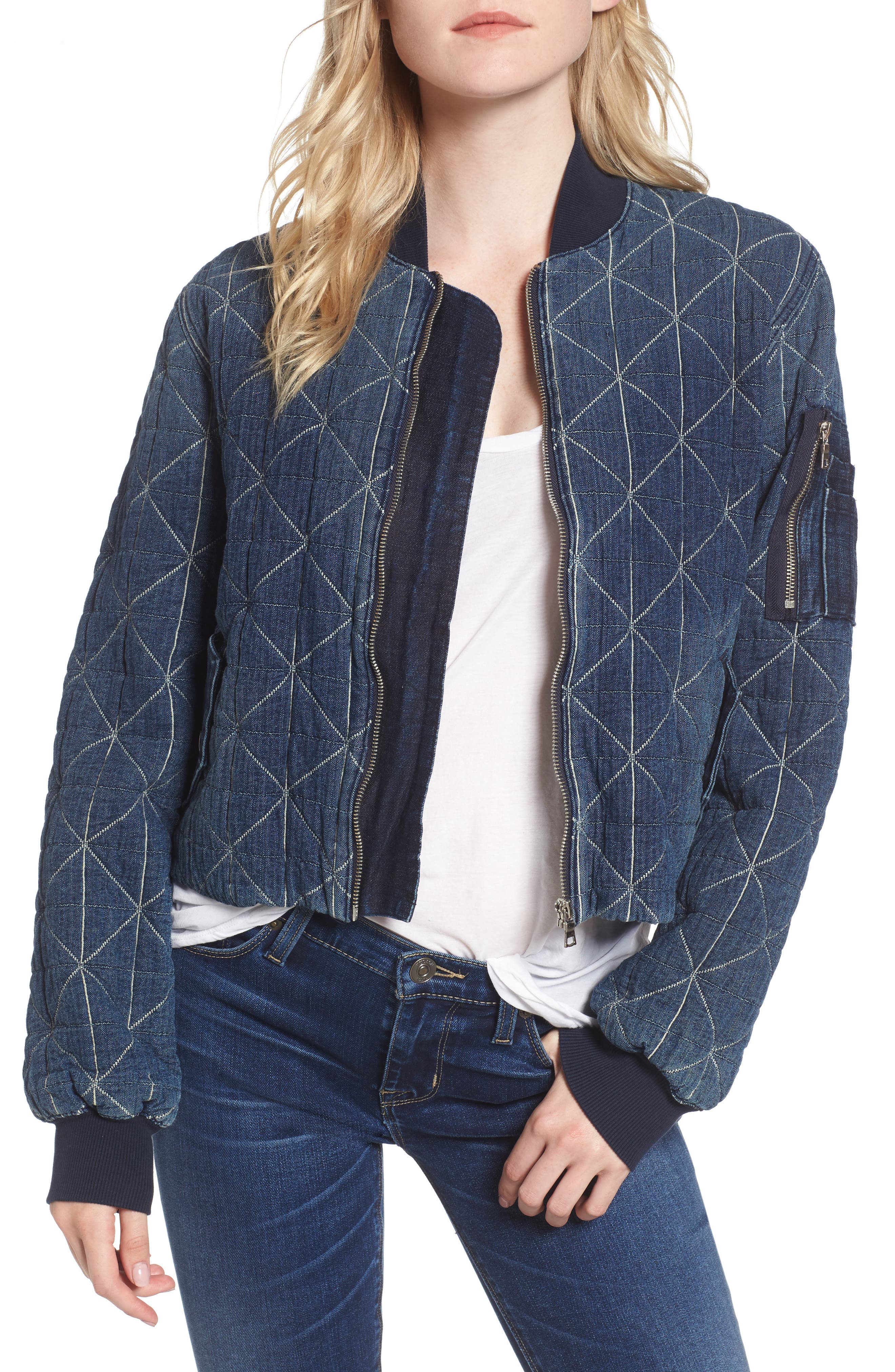 Gene Quilted Bomber Jacket,                             Main thumbnail 1, color,                             420