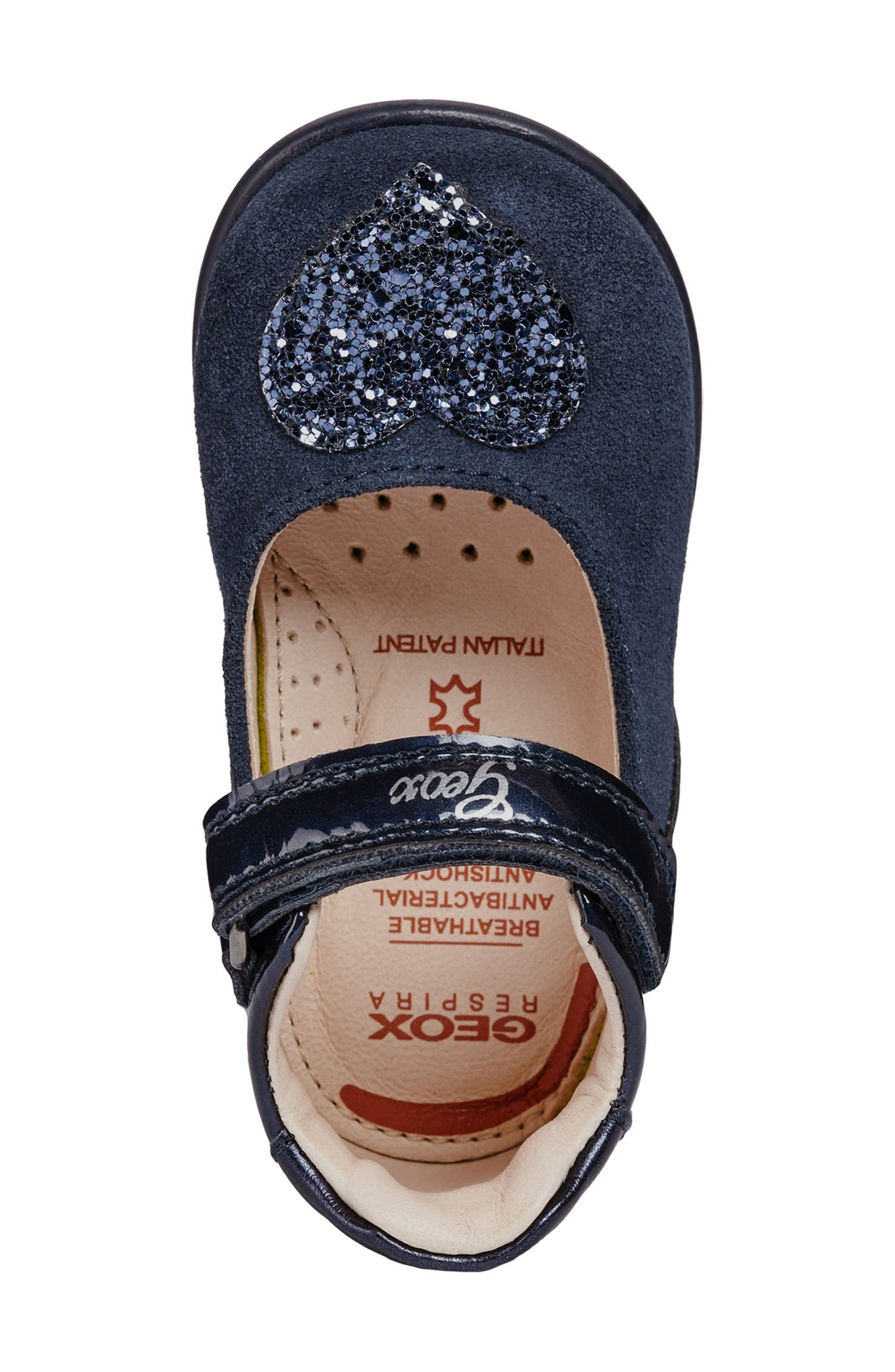 Kaytan Glitter Mary Jane Flat,                             Alternate thumbnail 5, color,                             NAVY