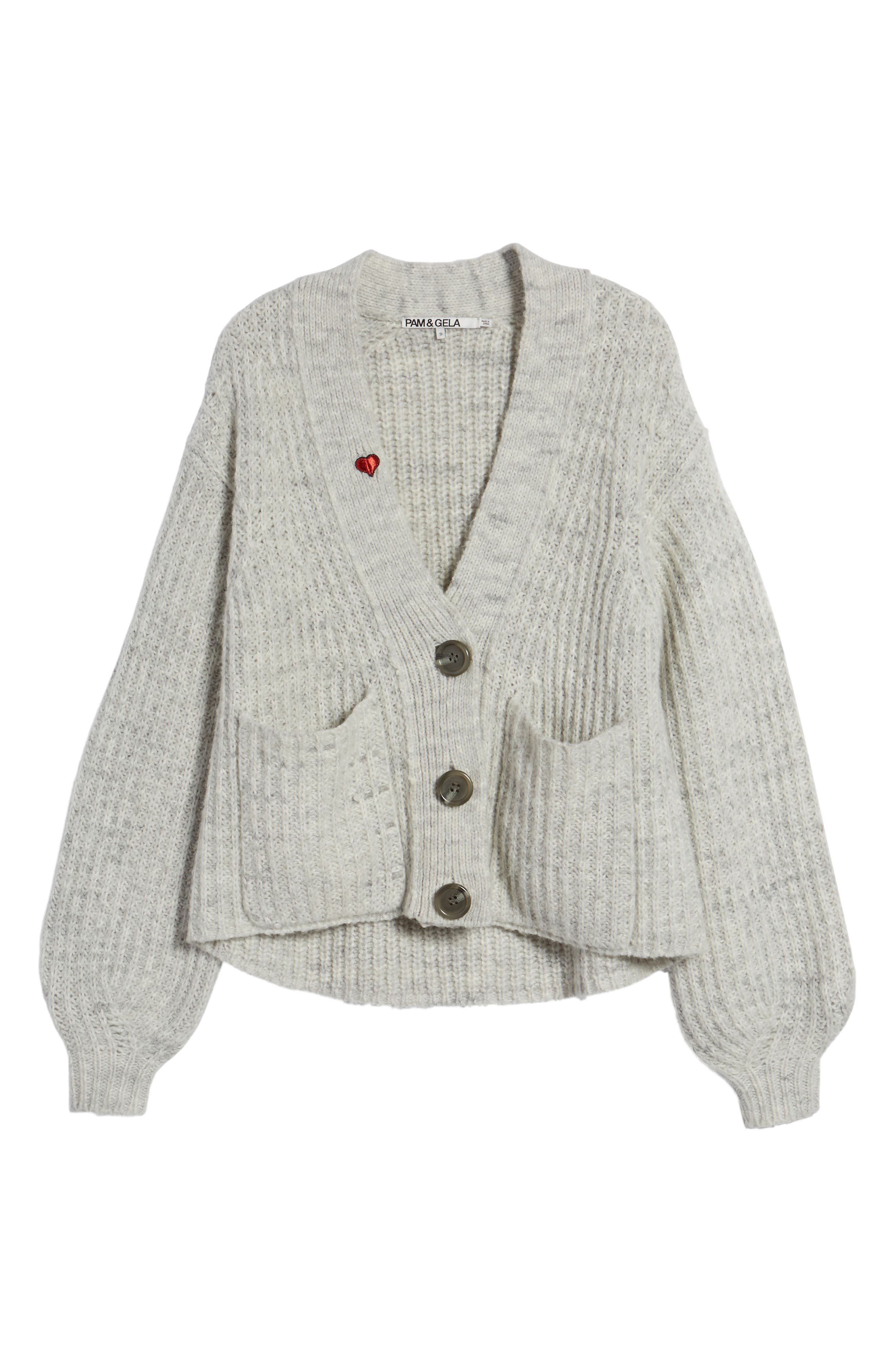 Oversize Cardigan,                             Alternate thumbnail 6, color,                             020