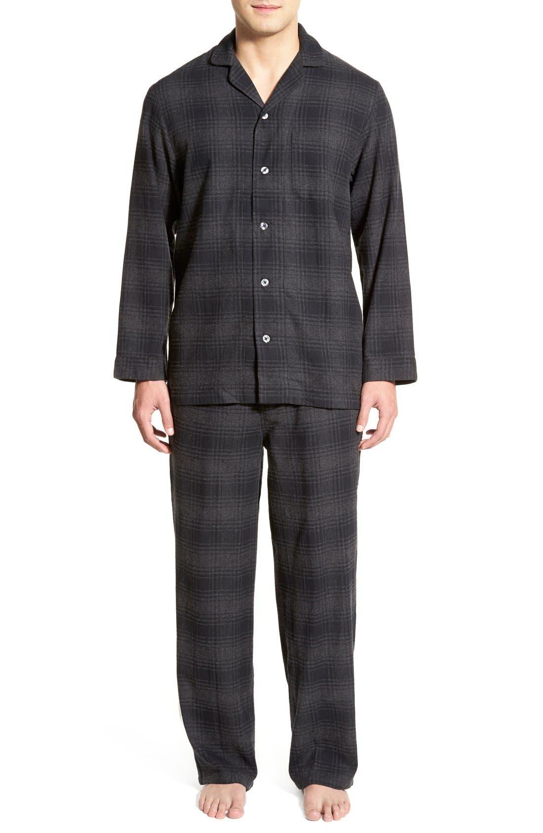 '824' Flannel Pajama Set,                             Main thumbnail 15, color,