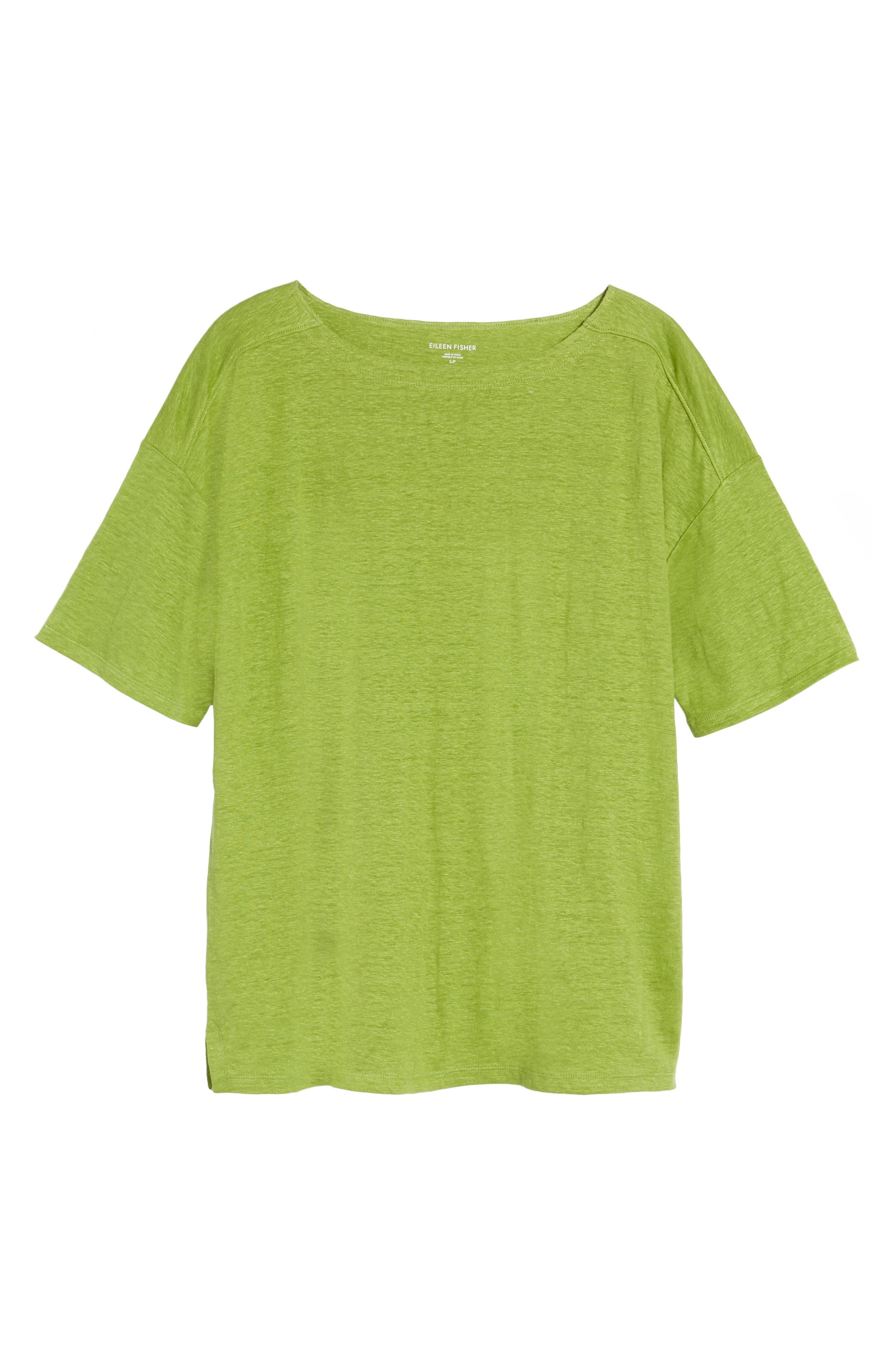 Slouchy Organic Linen Top,                             Alternate thumbnail 34, color,