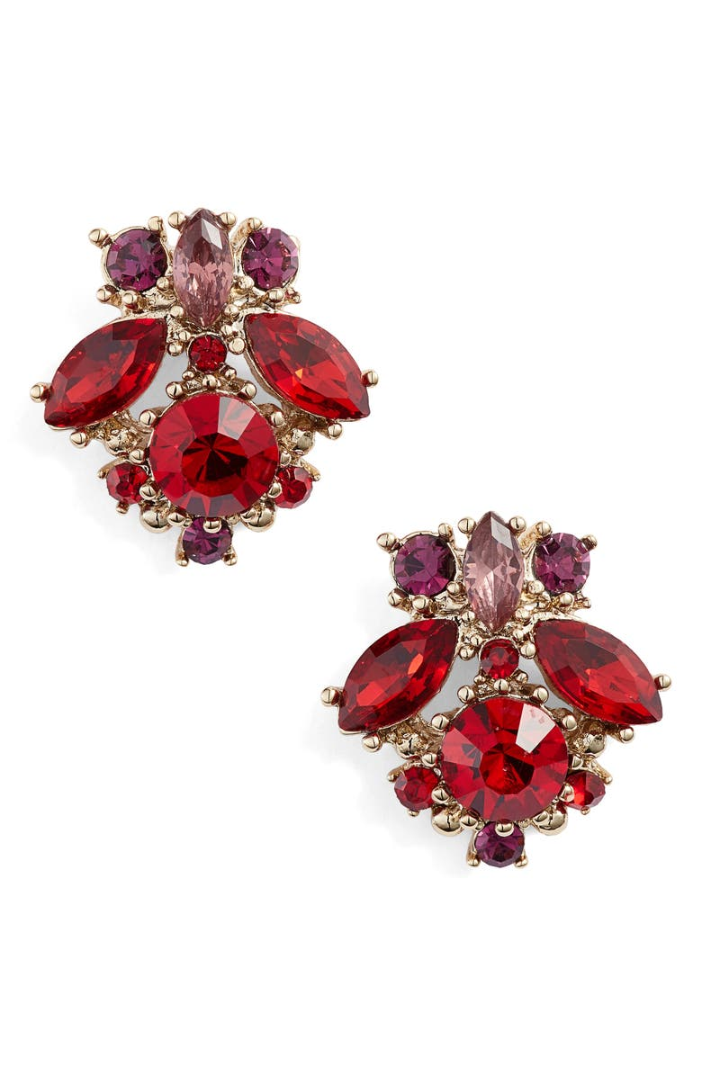 Marchesa CRYSTAL CLUSTER EARRINGS