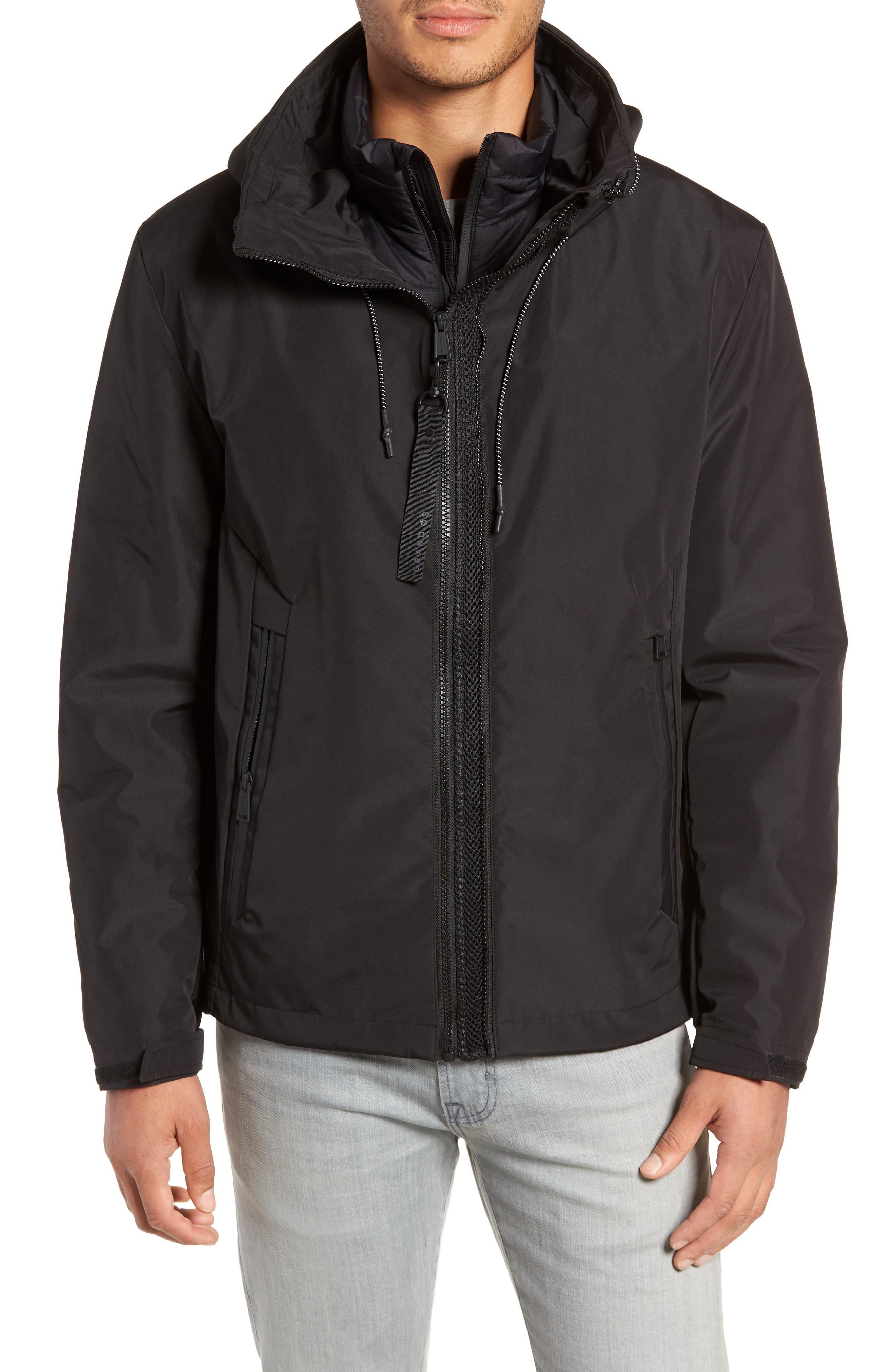 3-in-1 Rain Jacket,                             Alternate thumbnail 6, color,                             BLACK