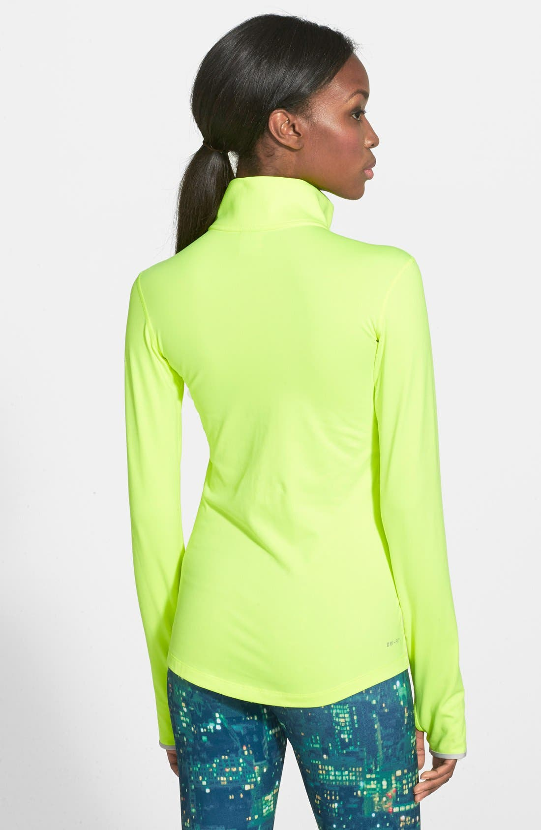 NIKE,                             'Pro Hyperwarm 3.0' Fitted Half Zip Top,                             Alternate thumbnail 2, color,                             702