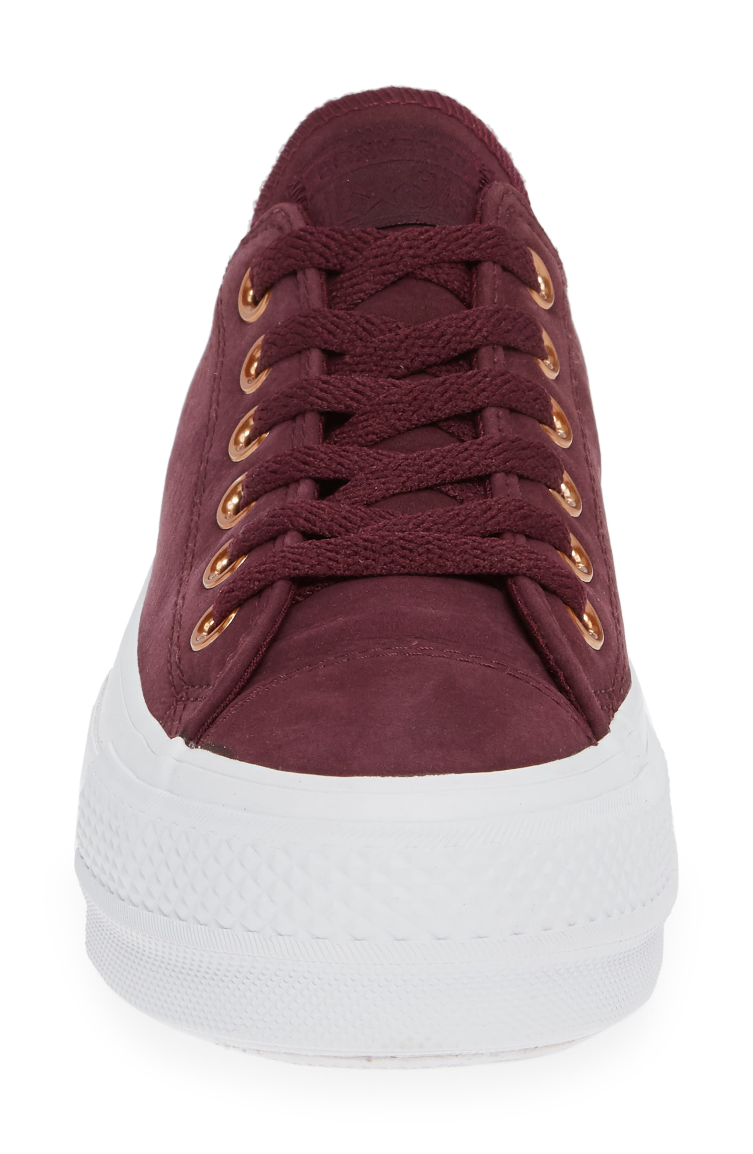 Chuck Taylor<sup>®</sup> All Star<sup>®</sup> Platform Sneaker,                             Alternate thumbnail 4, color,                             DARK SANGRIA NUBUCK