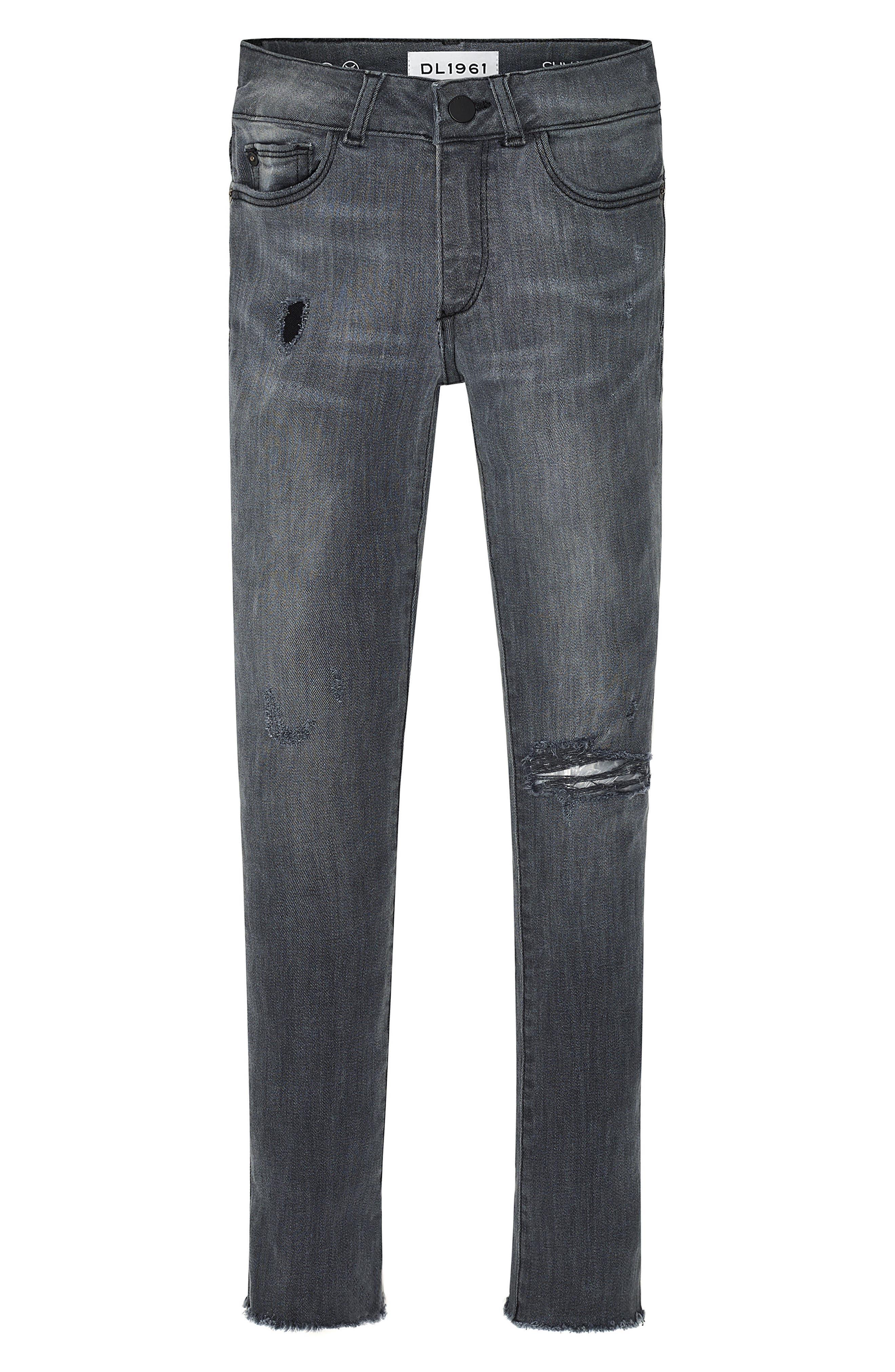 Chloe Raw Hem Skinny Jeans,                             Main thumbnail 1, color,                             025