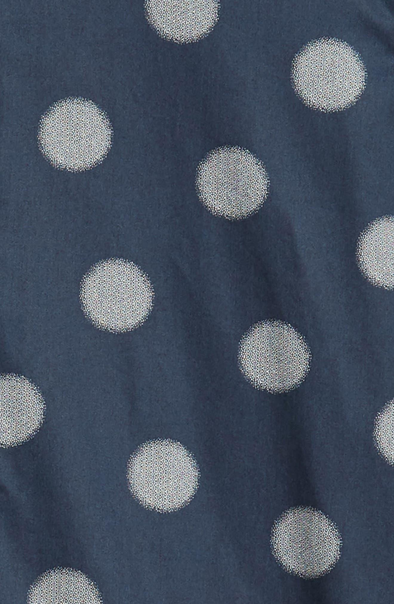 Cerious Slim Fit Circle Dot Sport Shirt,                             Alternate thumbnail 6, color,                             NAVY