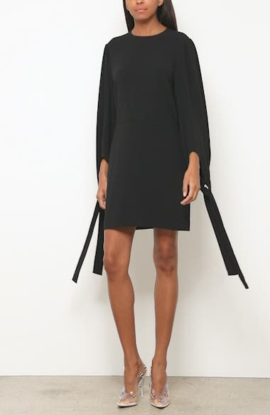 Tie Cuff Stretch Cady Dress, video thumbnail