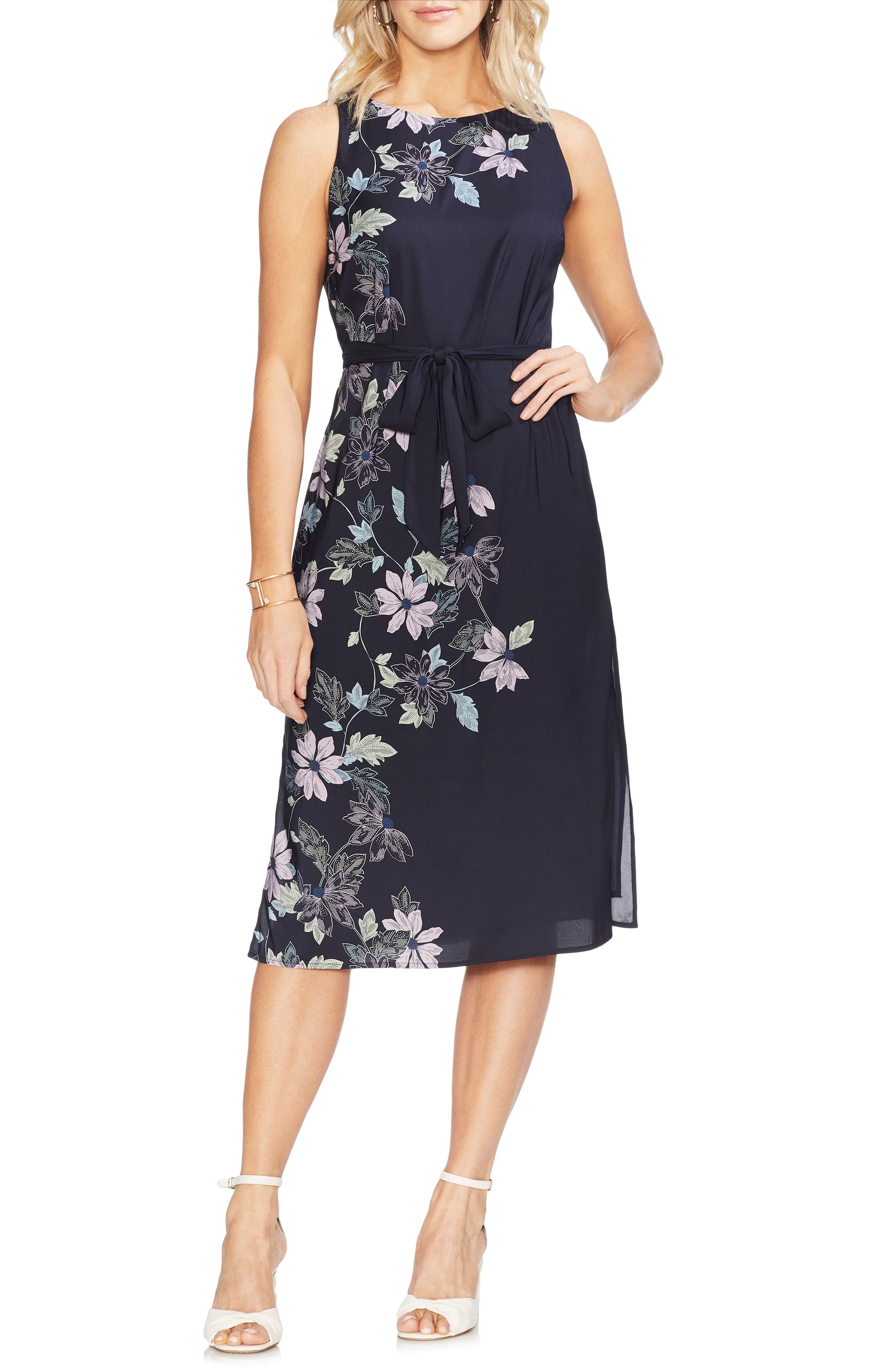 Vince Camuto Floral Vines Dress, Blue