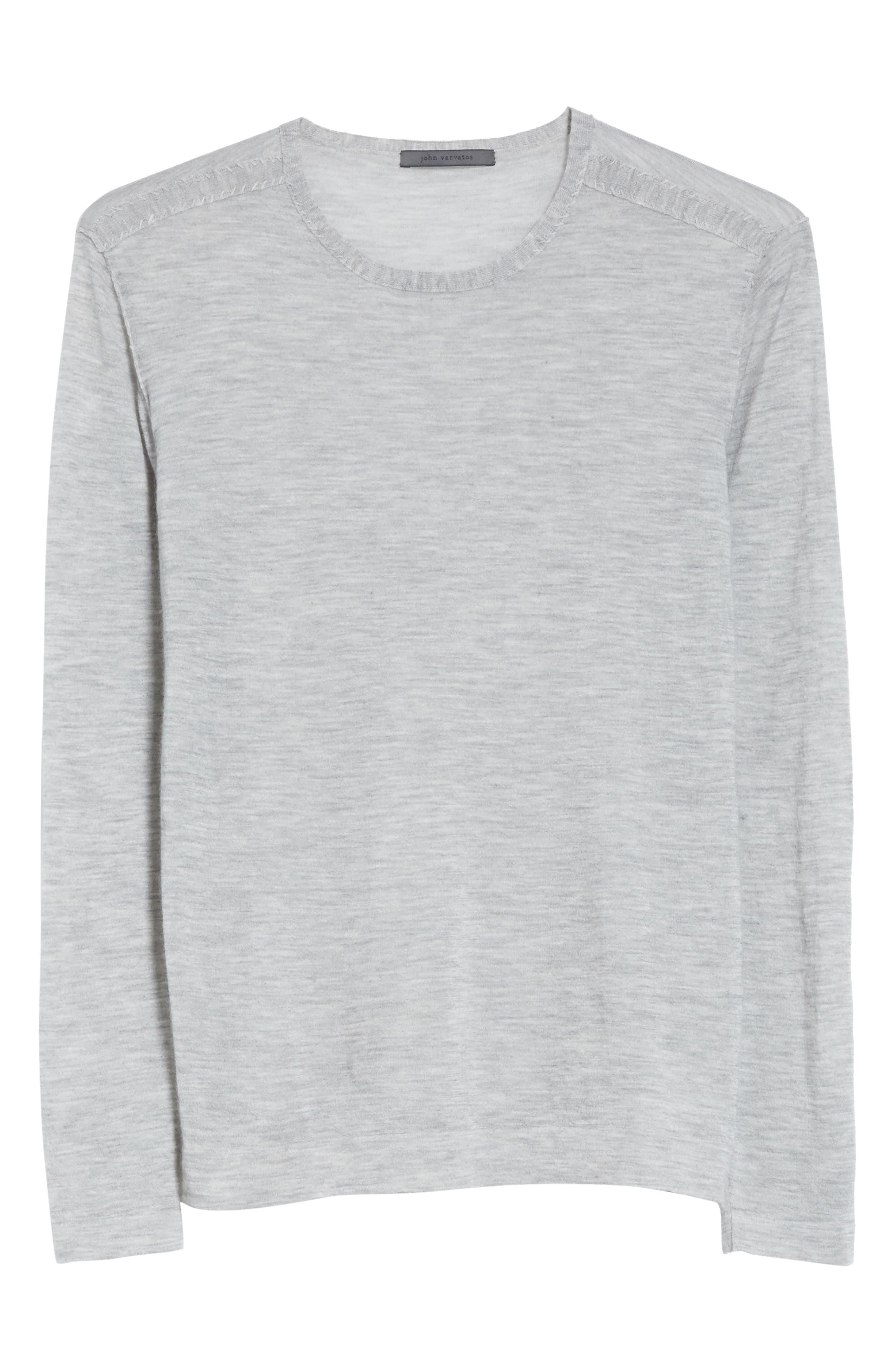 Cashmere Crewneck Sweater,                             Alternate thumbnail 6, color,                             055